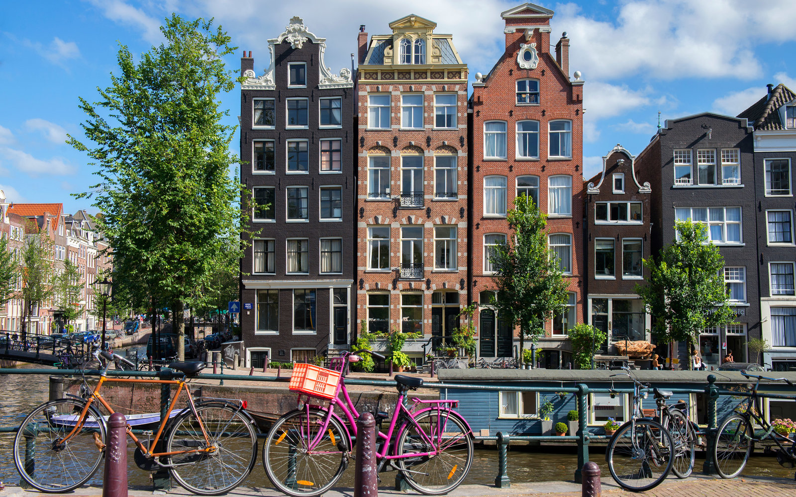 Canal houses, Amsterdam, The Netherlands