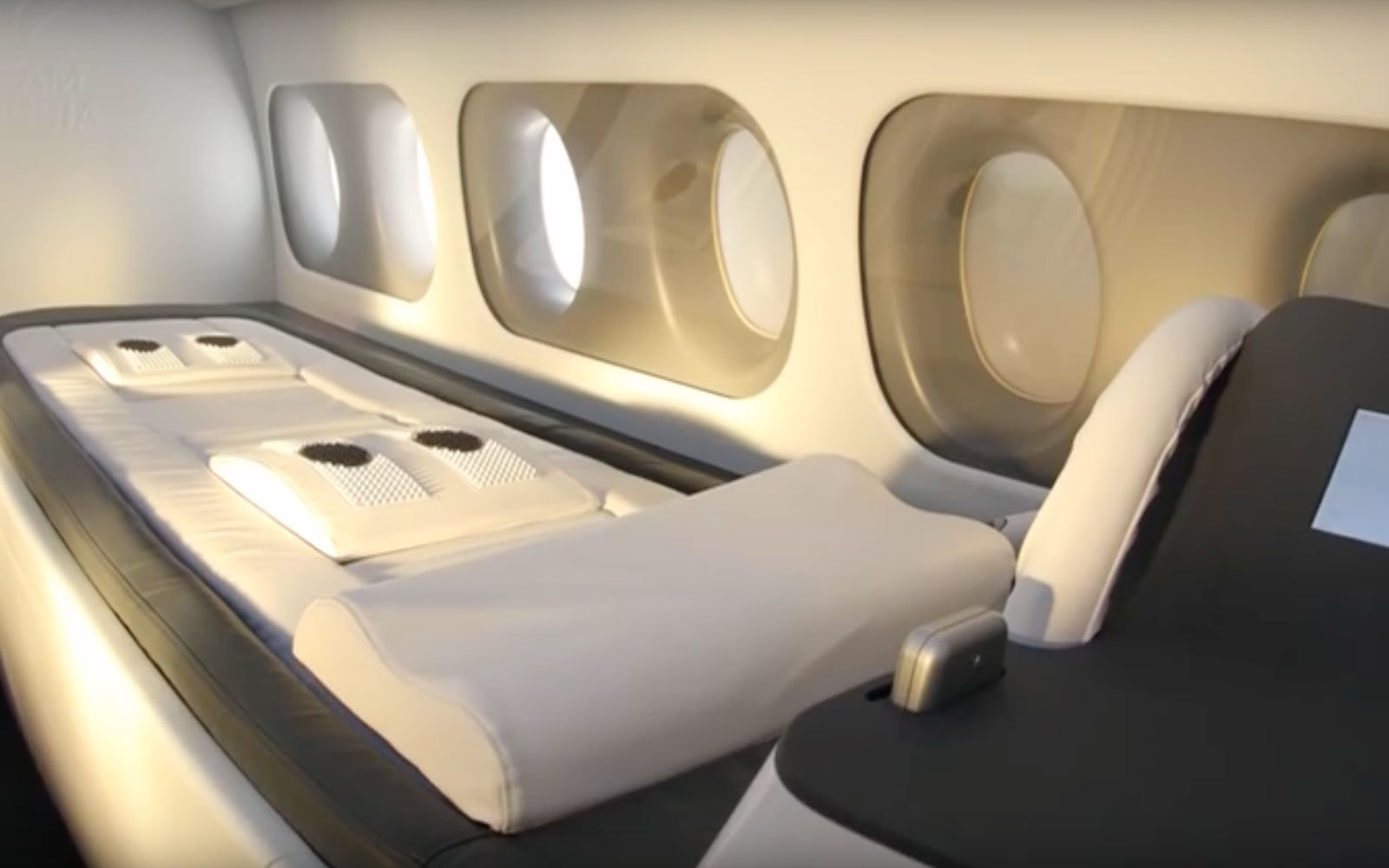There's a private jet with a gym for athletes
