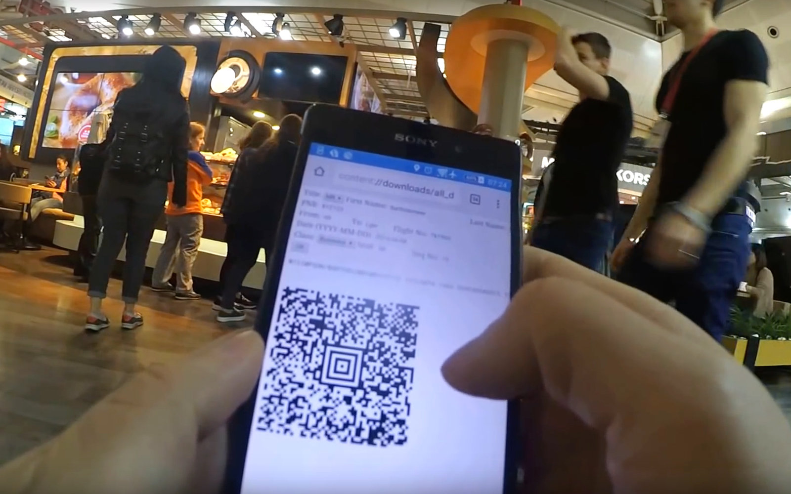 Hacker Created Fake Boarding Pass