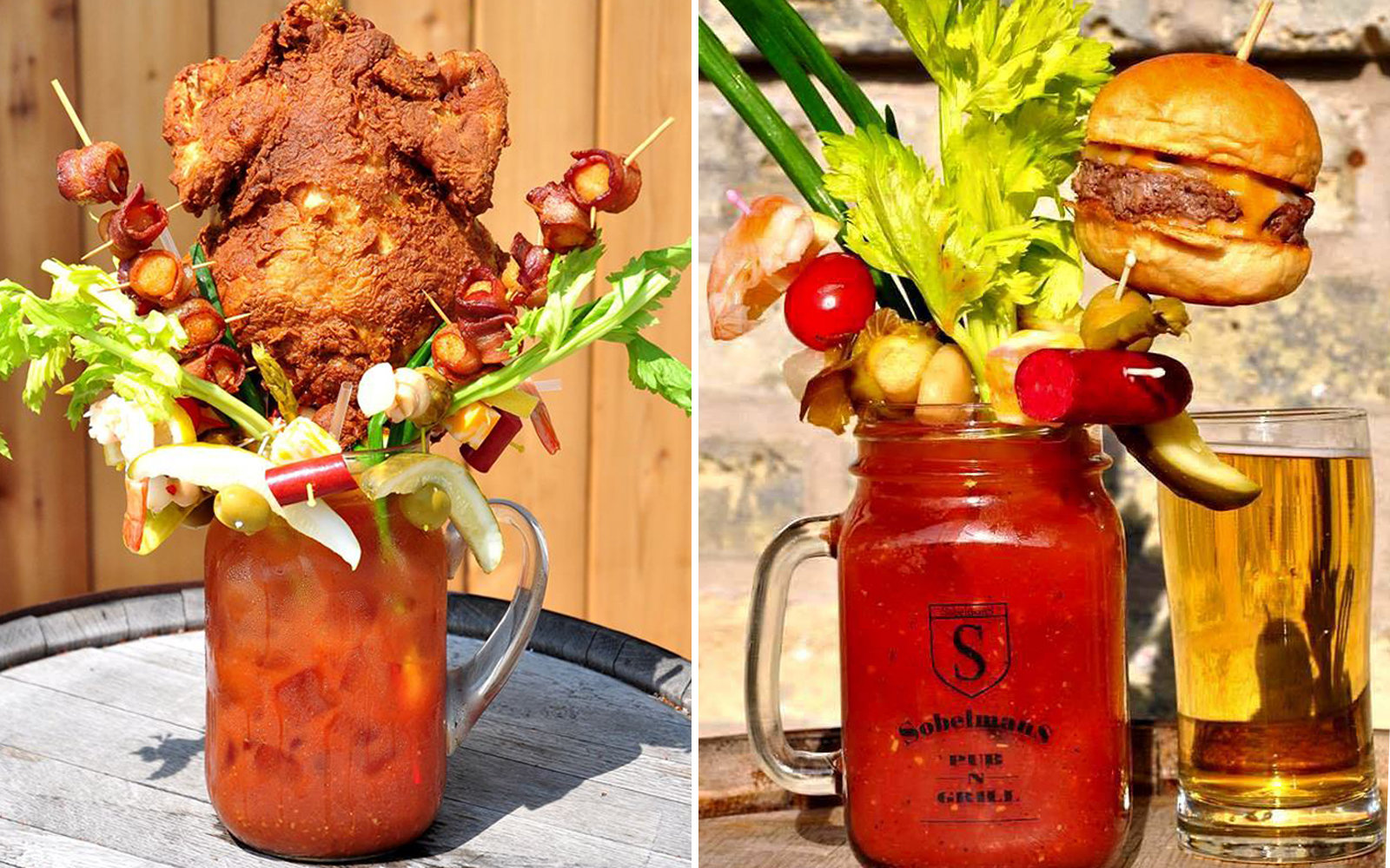This Completely Absurd Bloody Mary Has a Burger and Cheese Curds On it