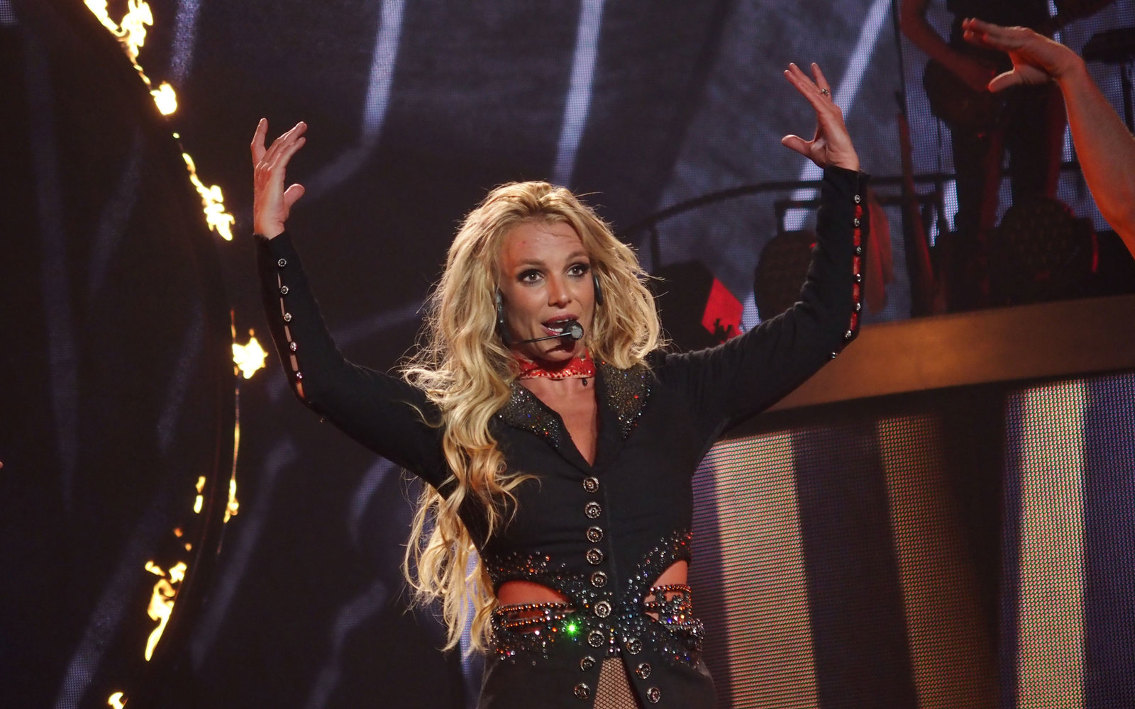 Britney Spears at VMAs (so hopefully you weren't expecting to see her in Vegas that night)