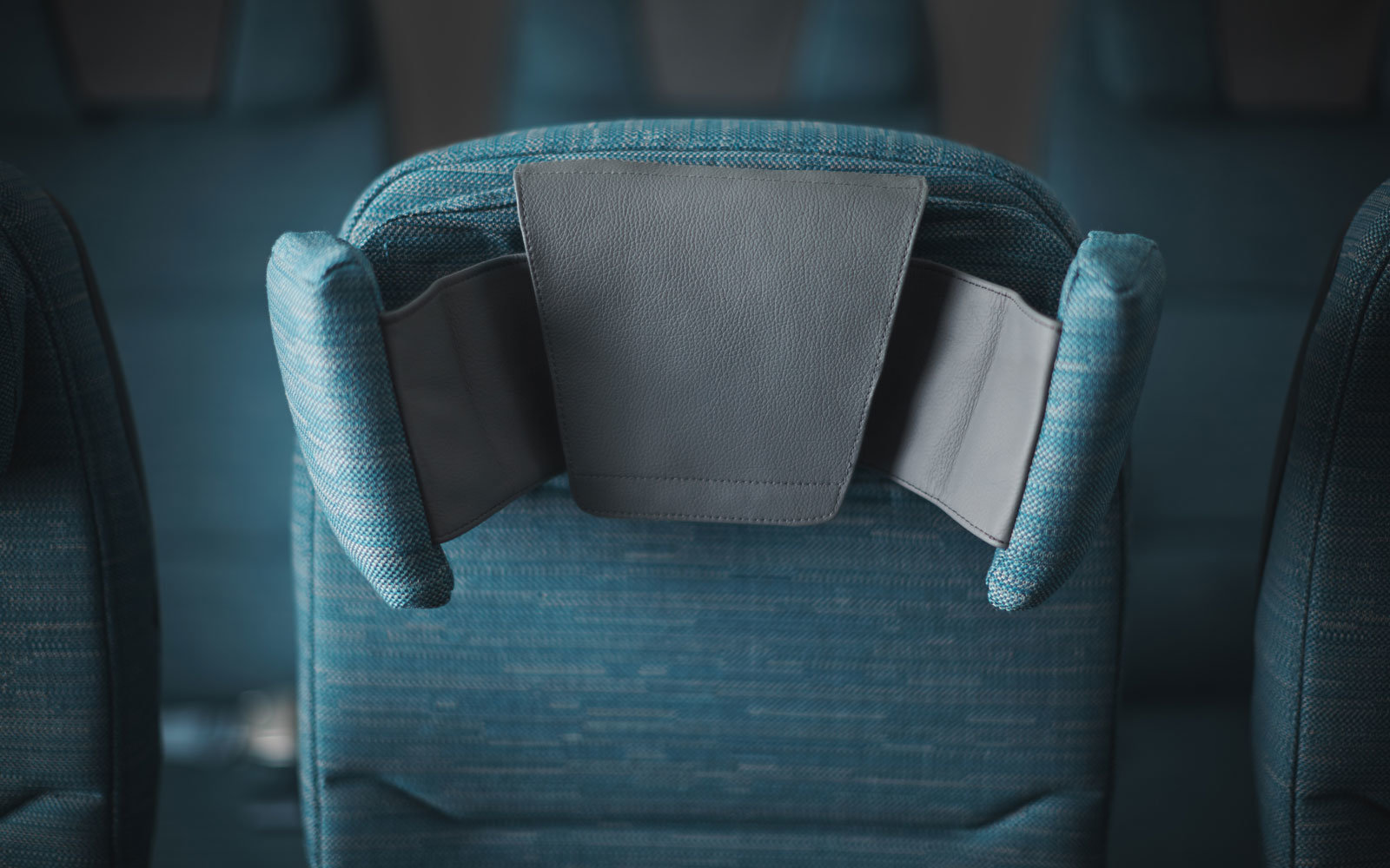 Cathay Pacific's headrests move six ways.