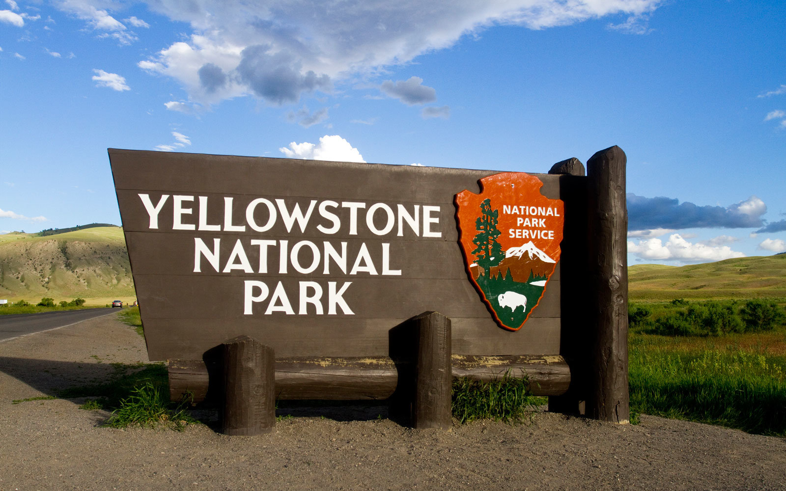 A sign at Yellowstone.