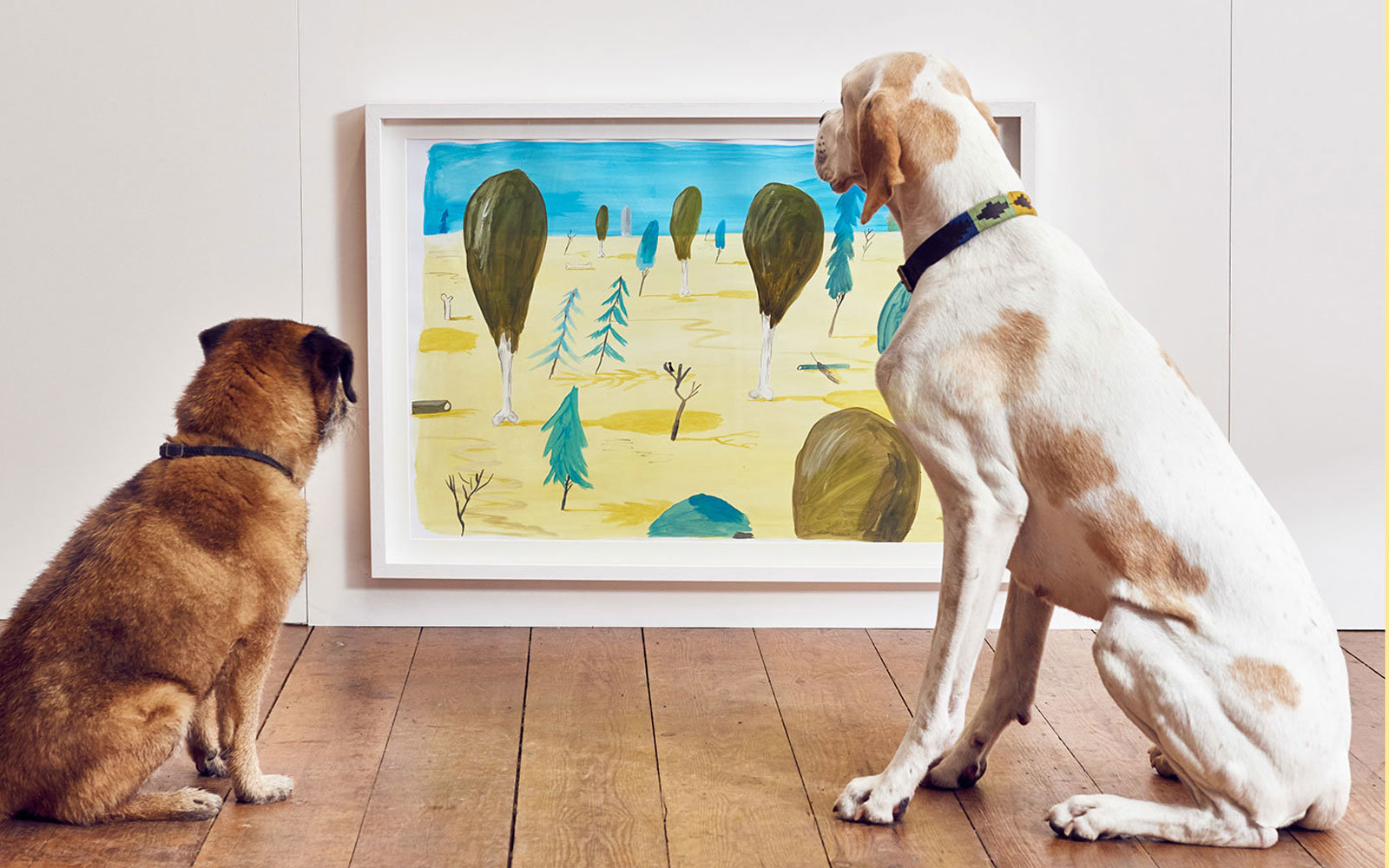 Dogs love fine art, apparently.