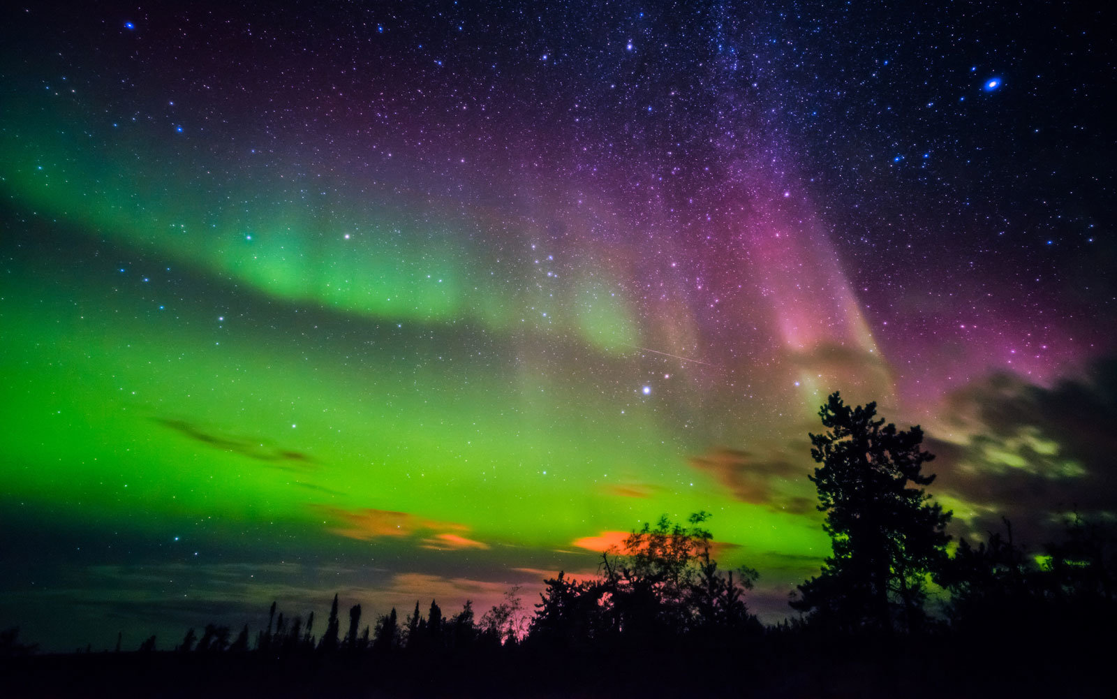 The Northern Lights in Canada.