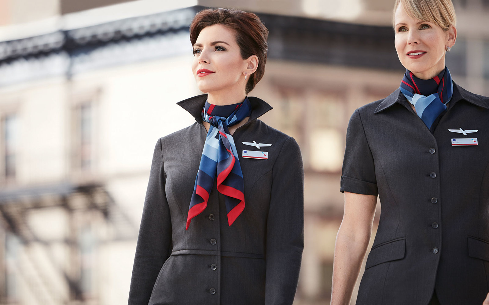 American airlines flight attendant uniforms photo
