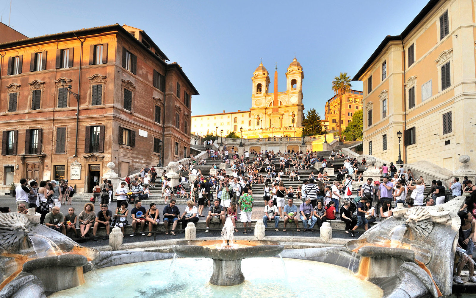 Romes Spanish Steps Protection