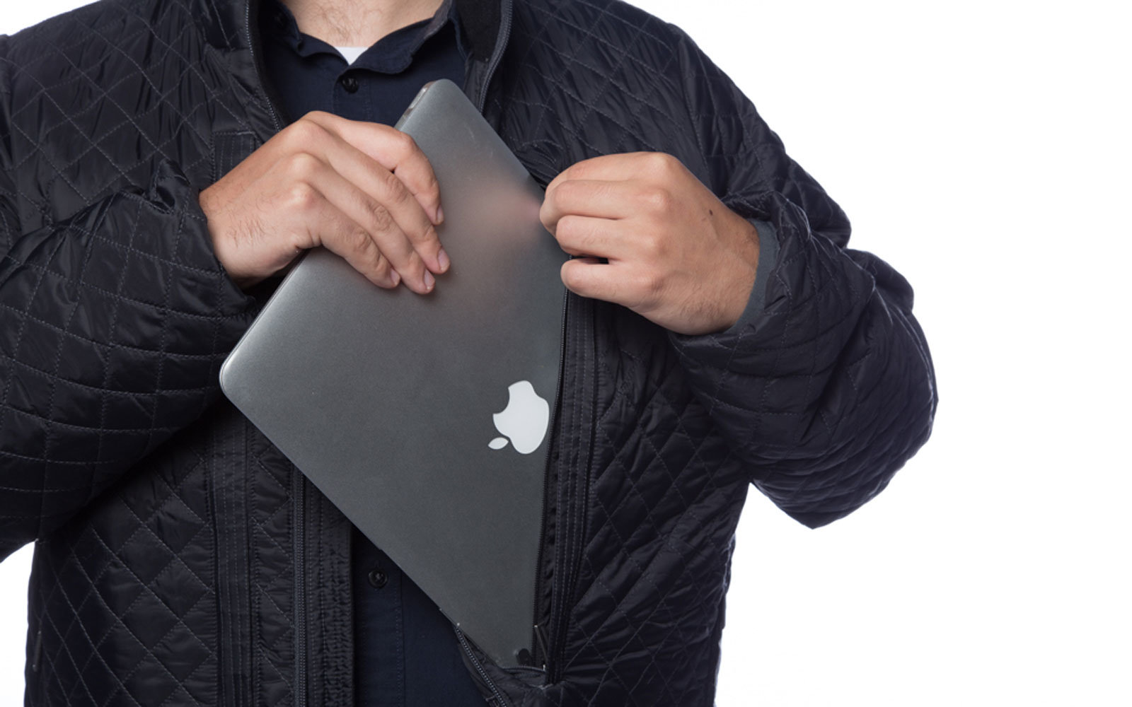 The new SCOTTeVEST jacket can hold two laptops, plus every other device you own.