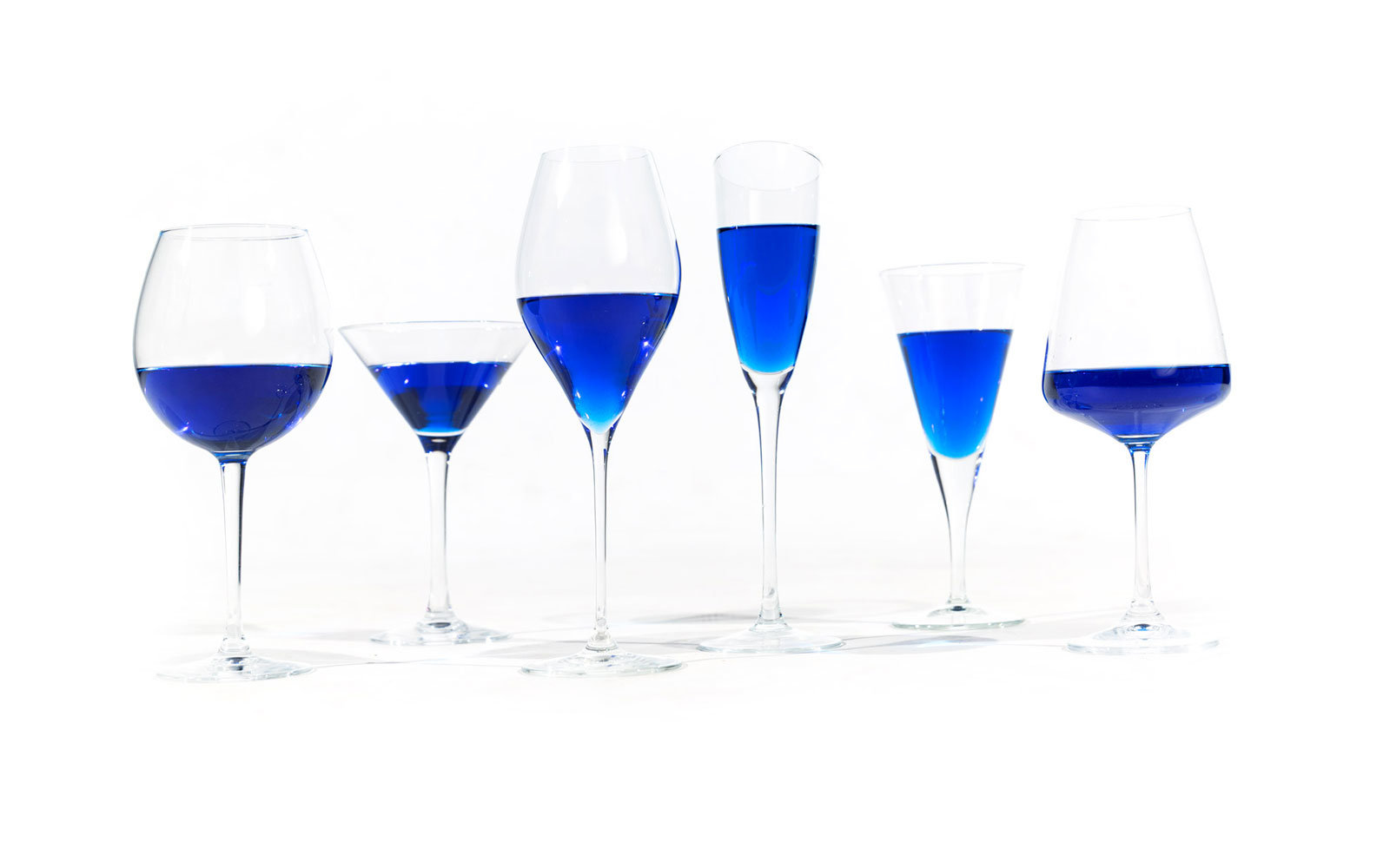 Blue wine in Spain
