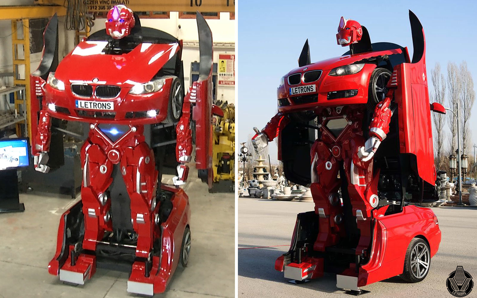Watch a BMW Turn Into a Real-life Transformer
