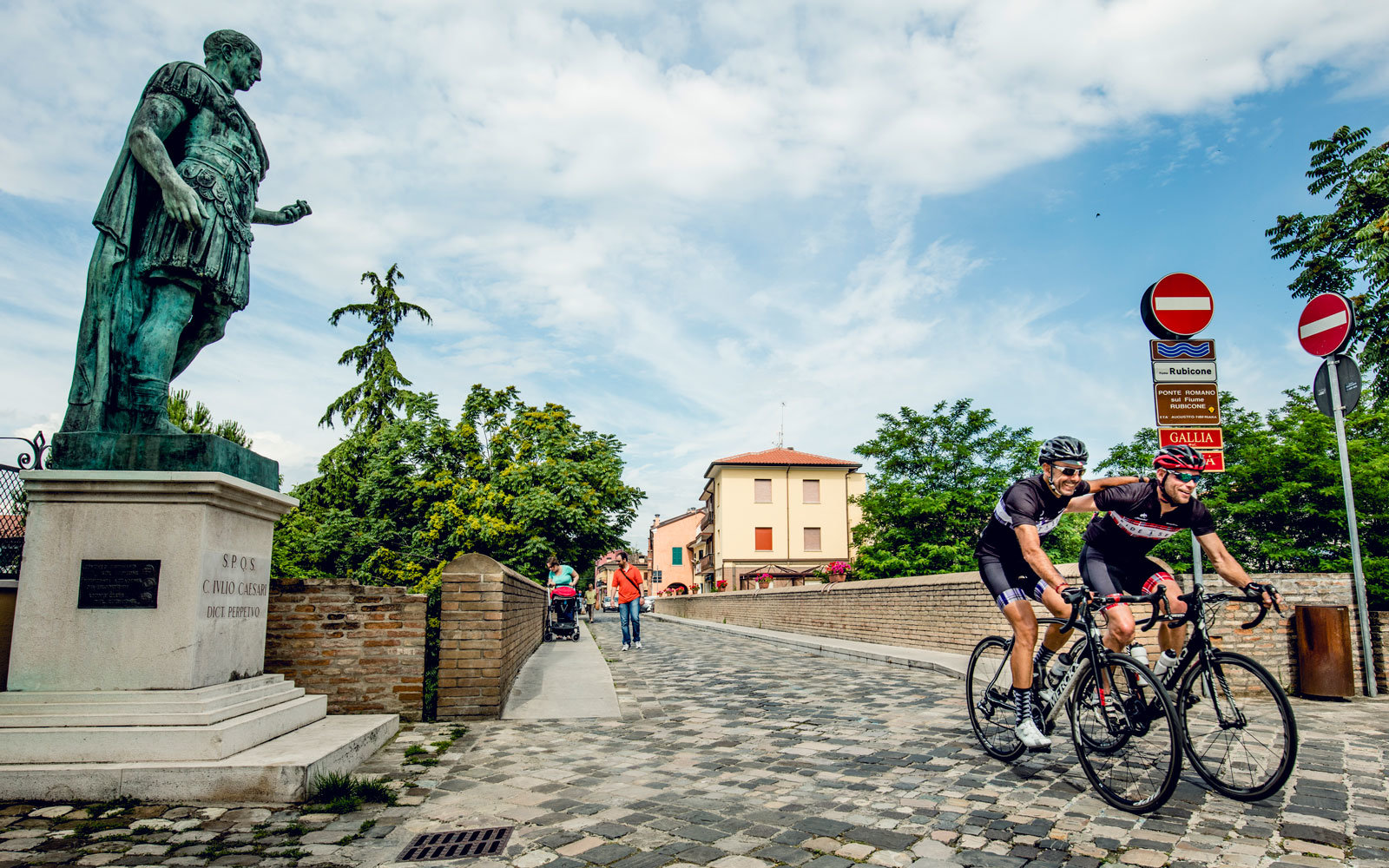 This month-long bike trip traces Caesar's footsteps.