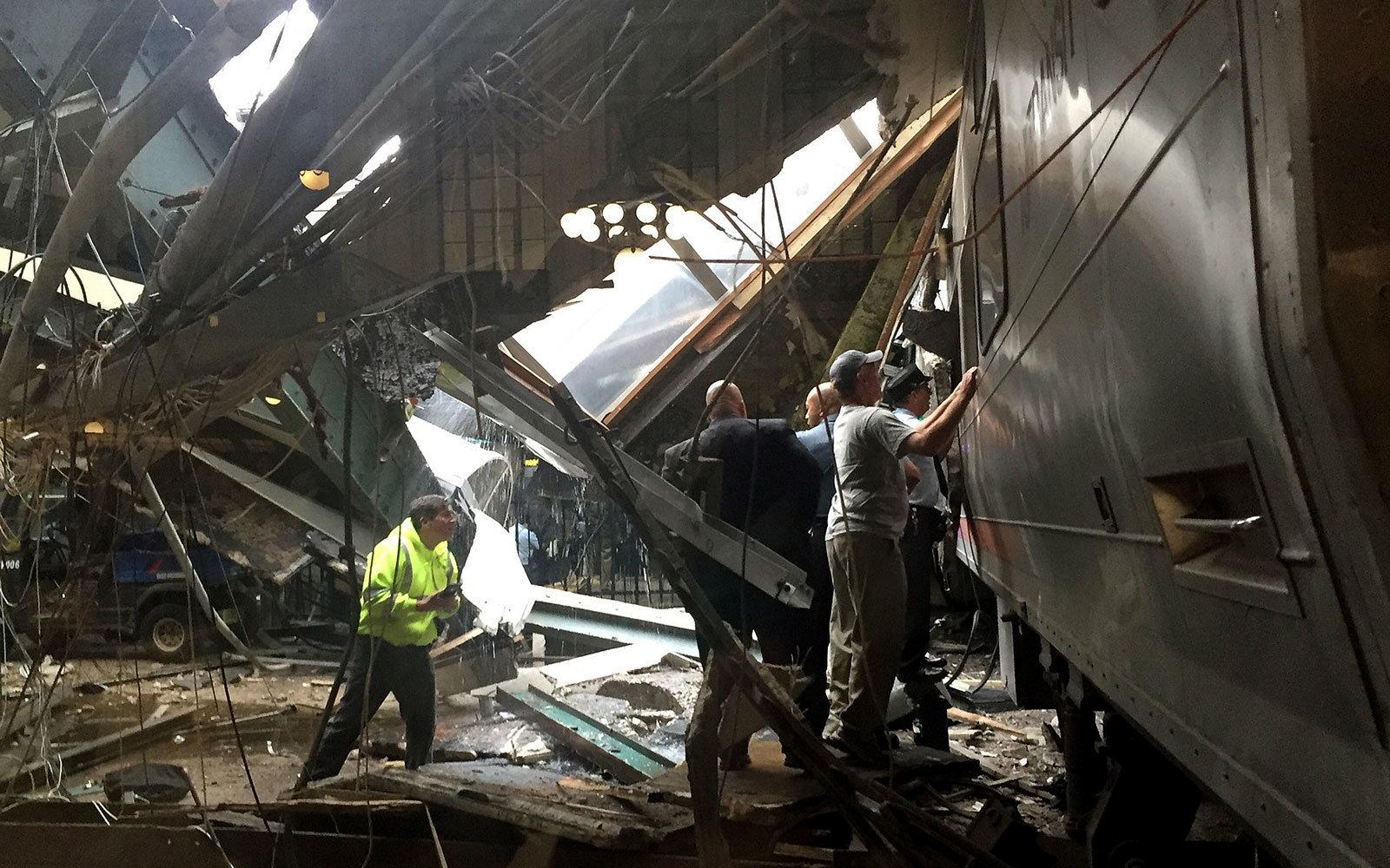 Train crash in Hoboken, Sept. 29, 2016.