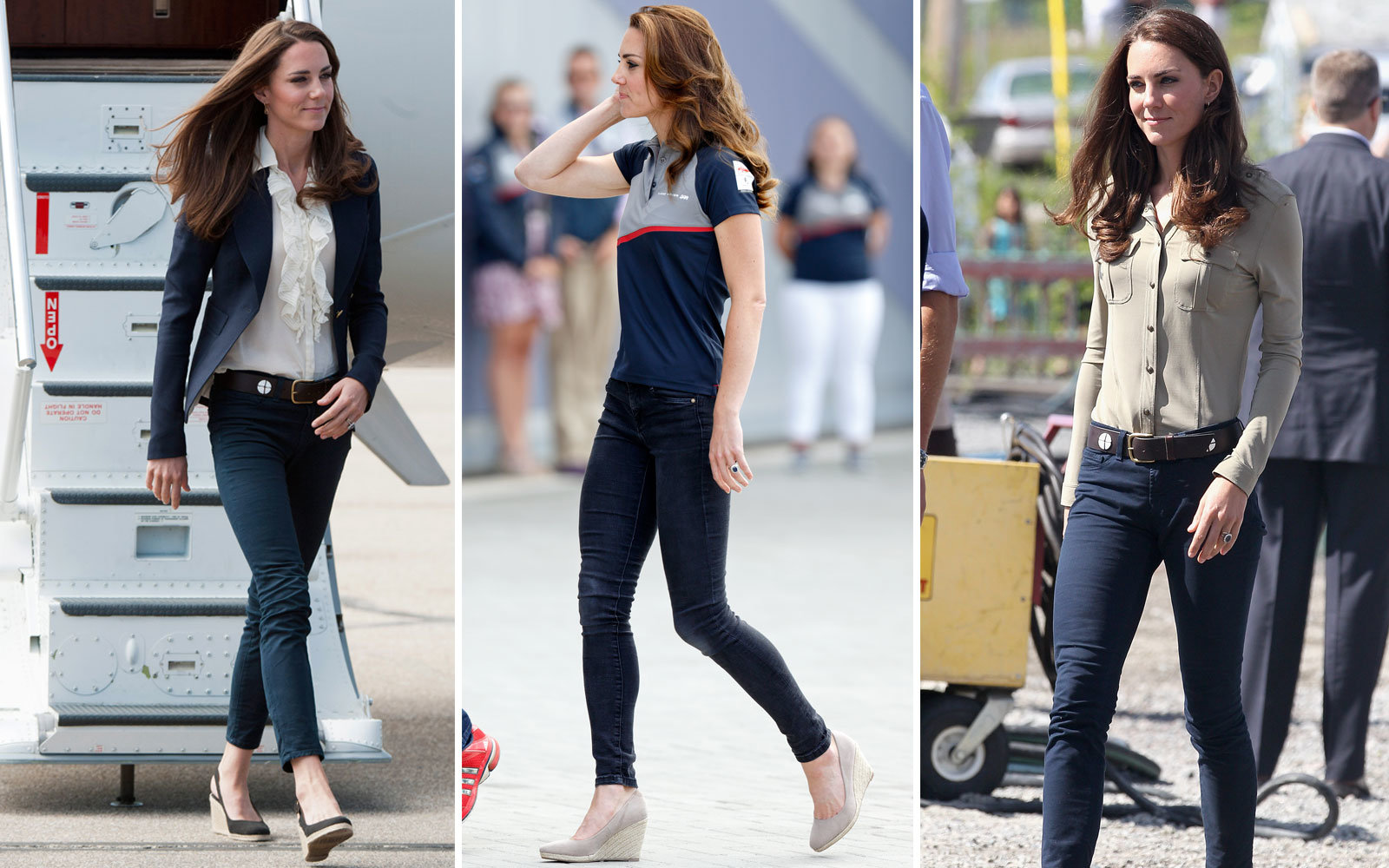 beb64ddb197d A Great-Fitting Pair of Skinny Jeans. Kate Middleton Travel Outfit  Inspiration