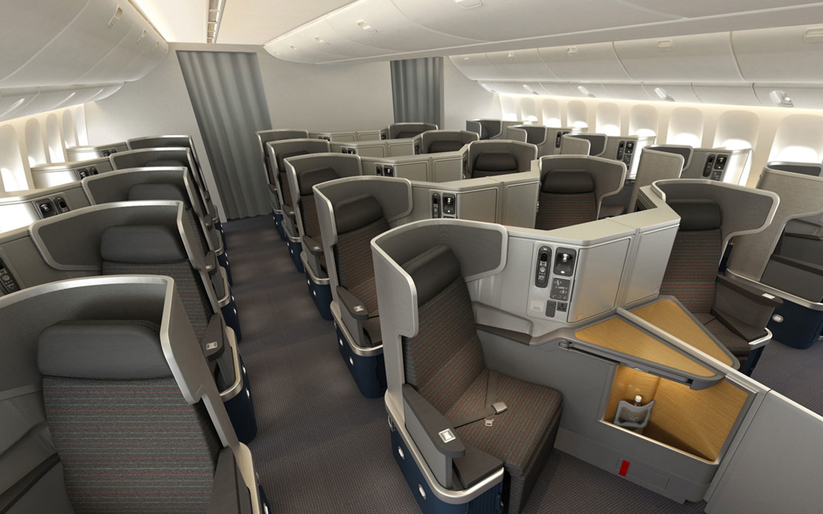 American Airlines business class for economy