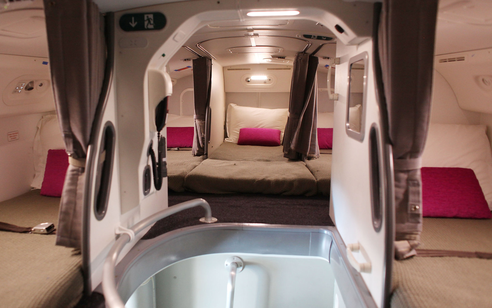 Airplane crew bedroom