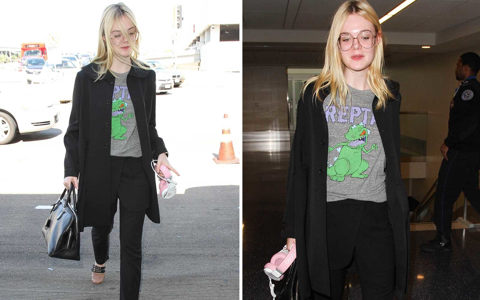 Steal Elle Fanning's Airport Style