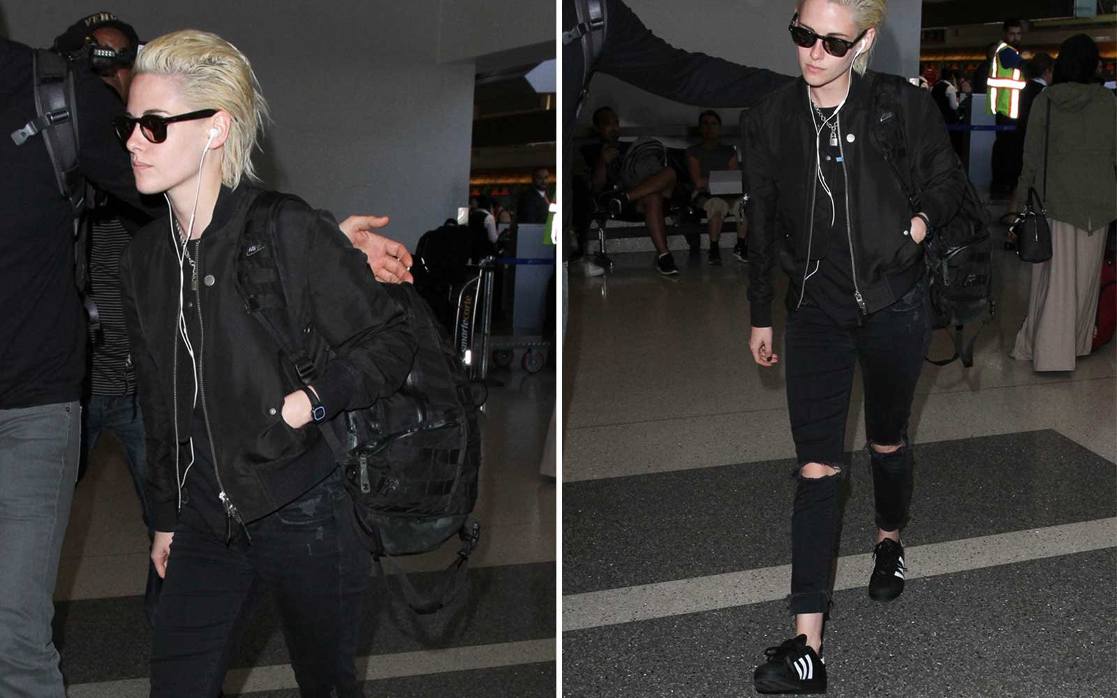 Kristen Stewart LAX (Shoes + Jacket)
