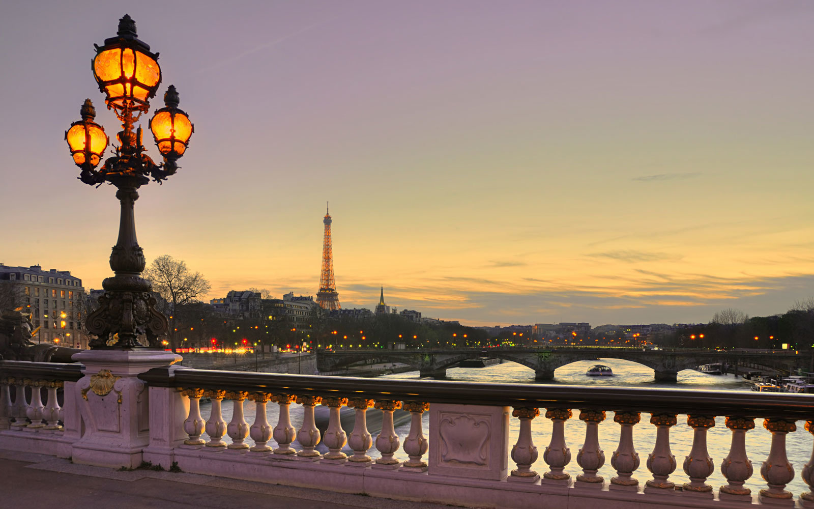 Paris, with the Eiffel Tower in the distance.
