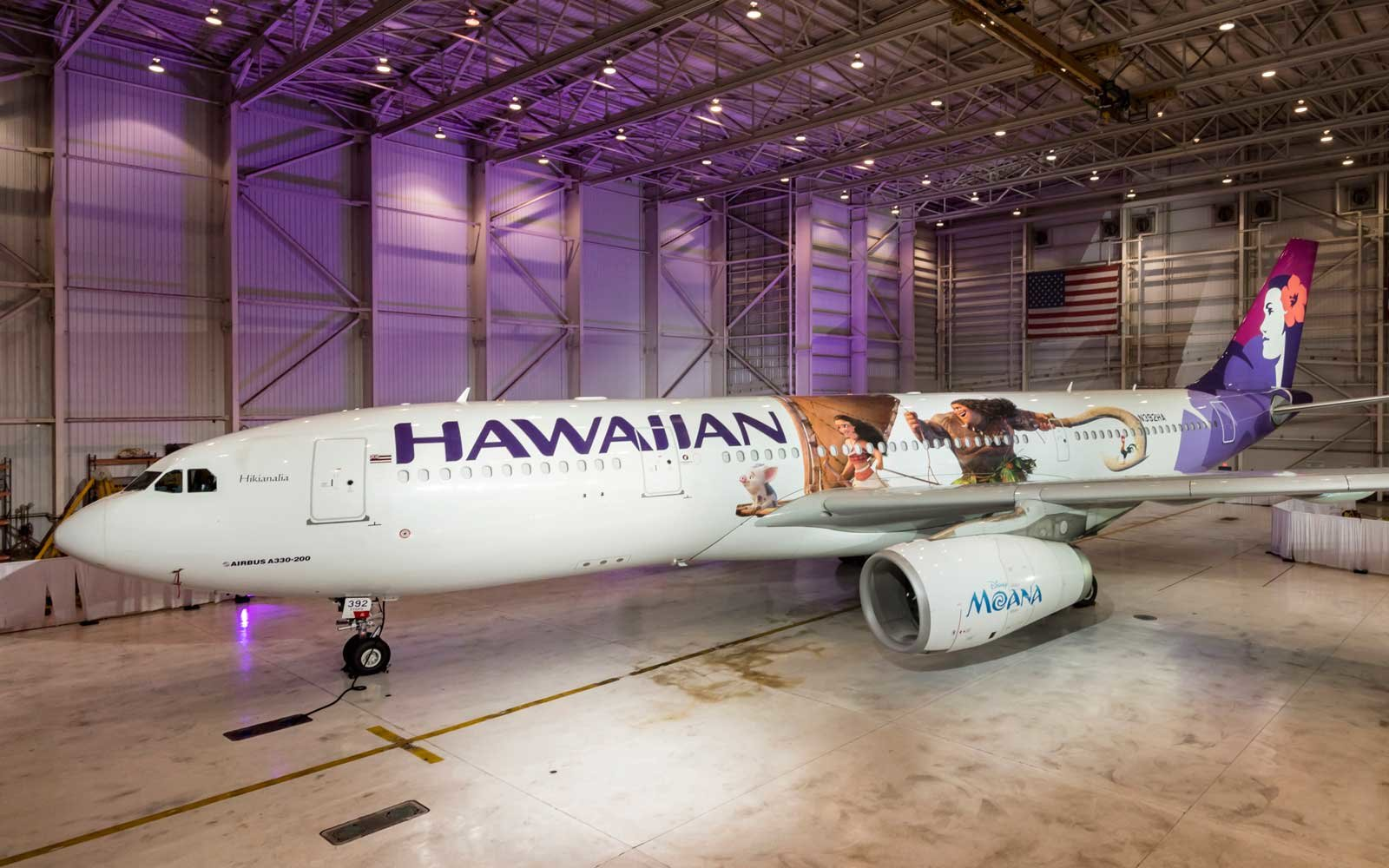 Disney Moana Plane Hawaiian Airlines