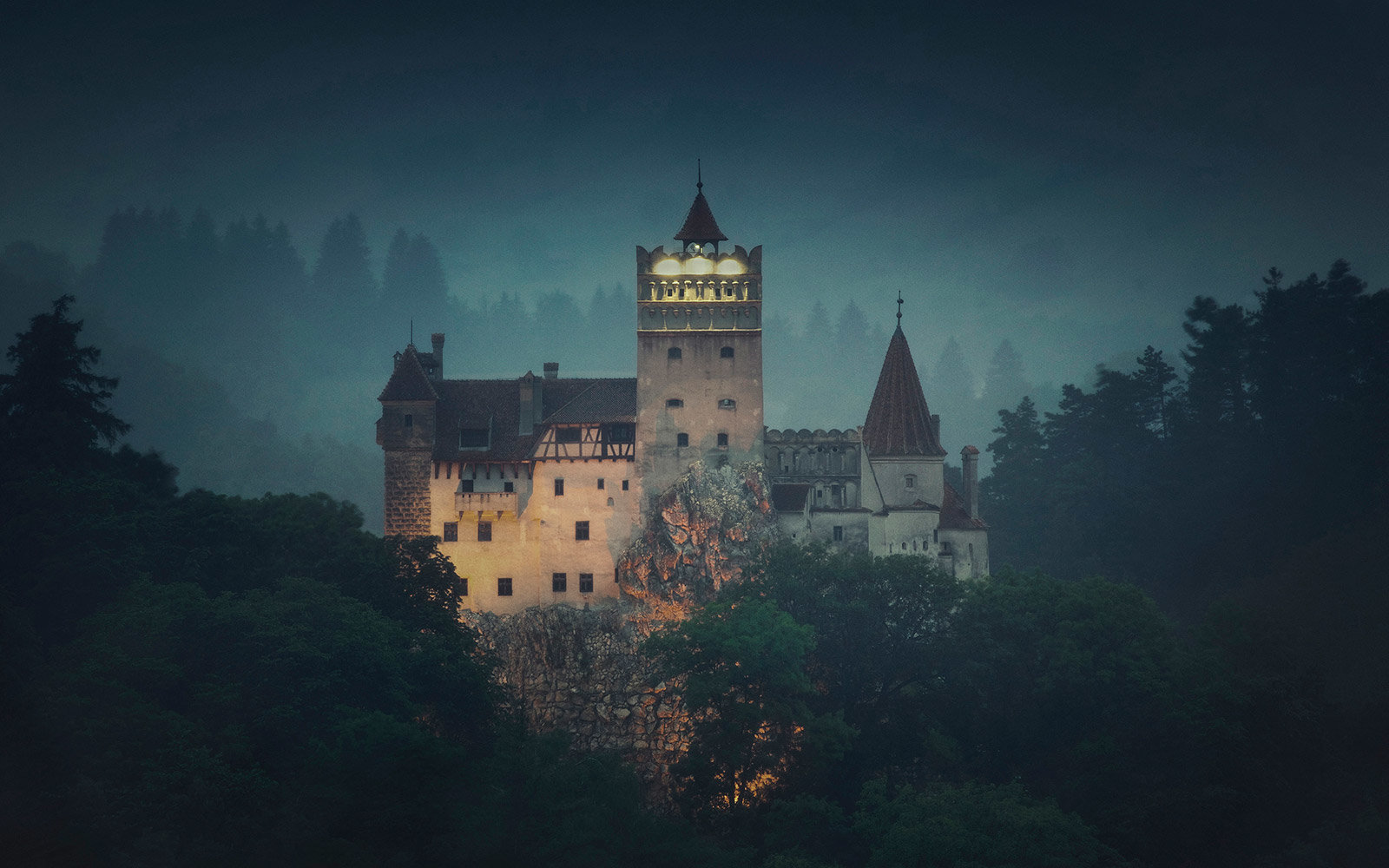 Night at Dracula's Castle in Transylvania