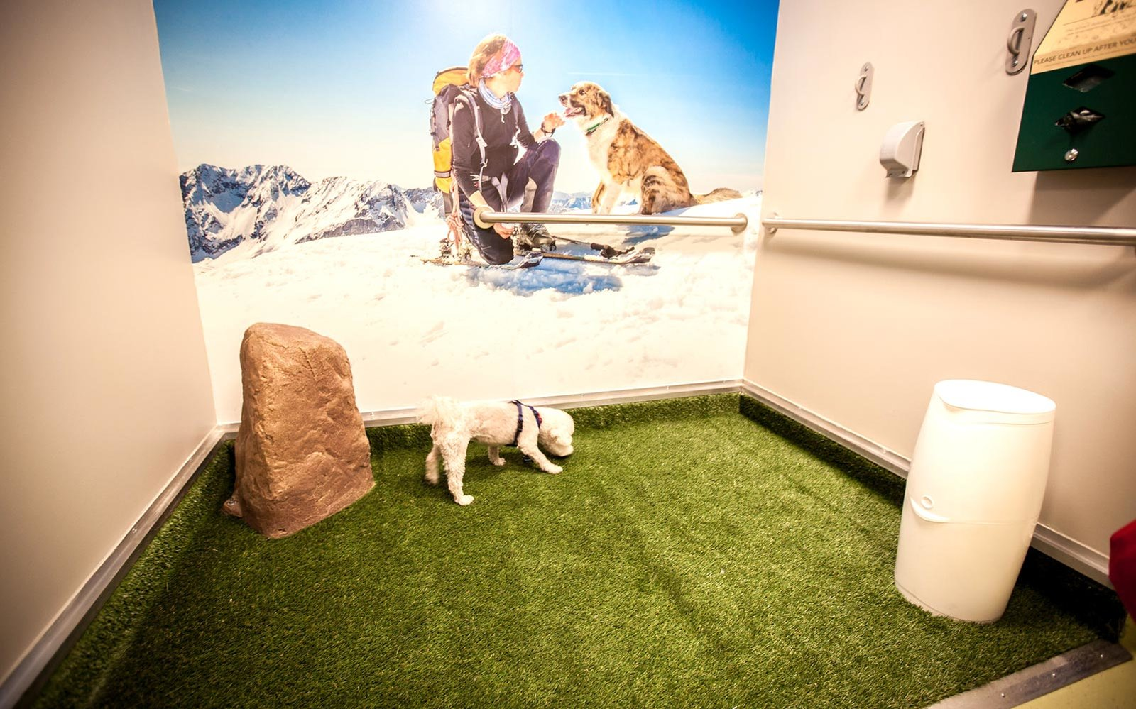 Pet potties in Airports