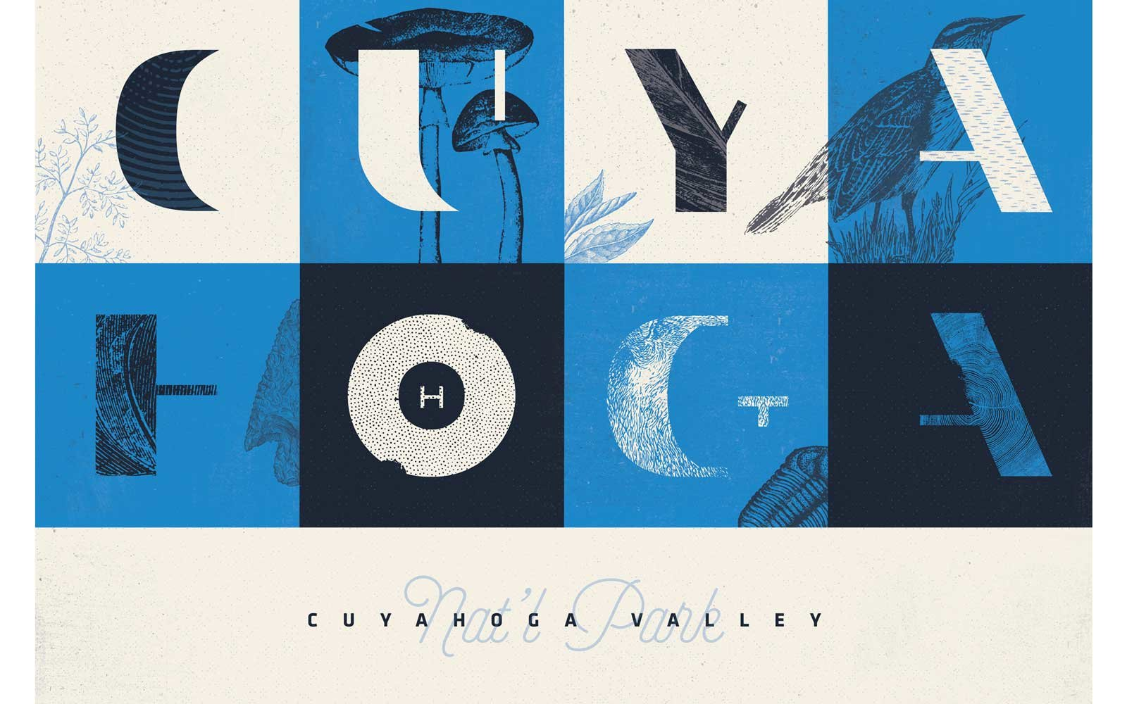 Design Type Hike National Parks Posters
