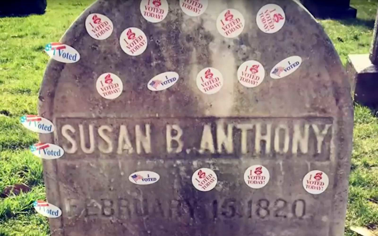 Susan B Anthony Grave
