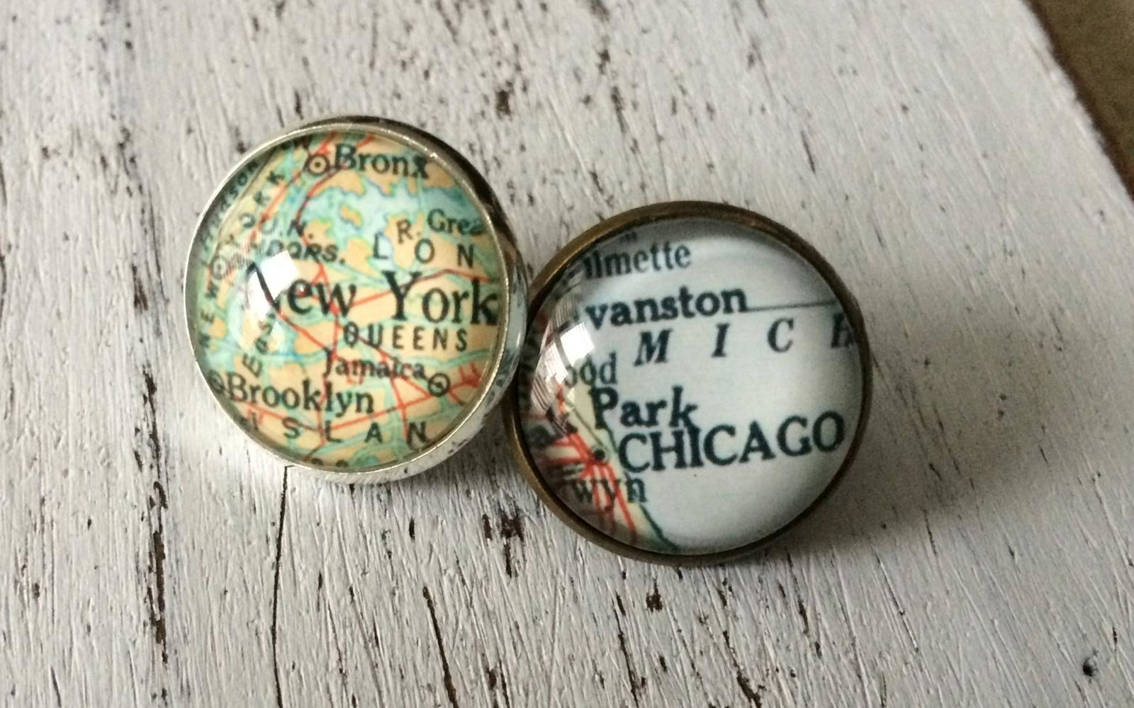 Custom Map Tie Tack
