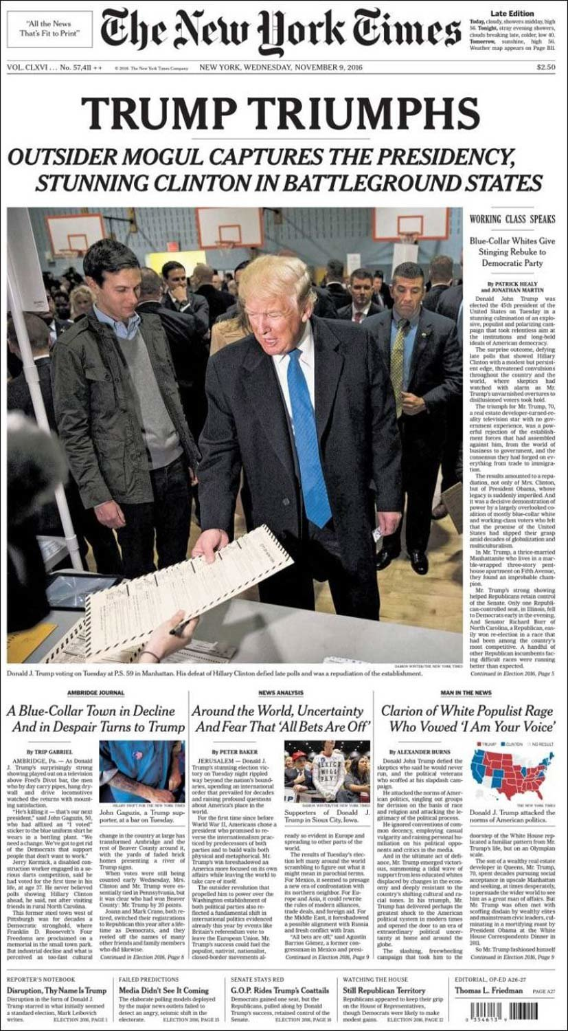 See How the World's Newspapers Reported Donald Trump Victory