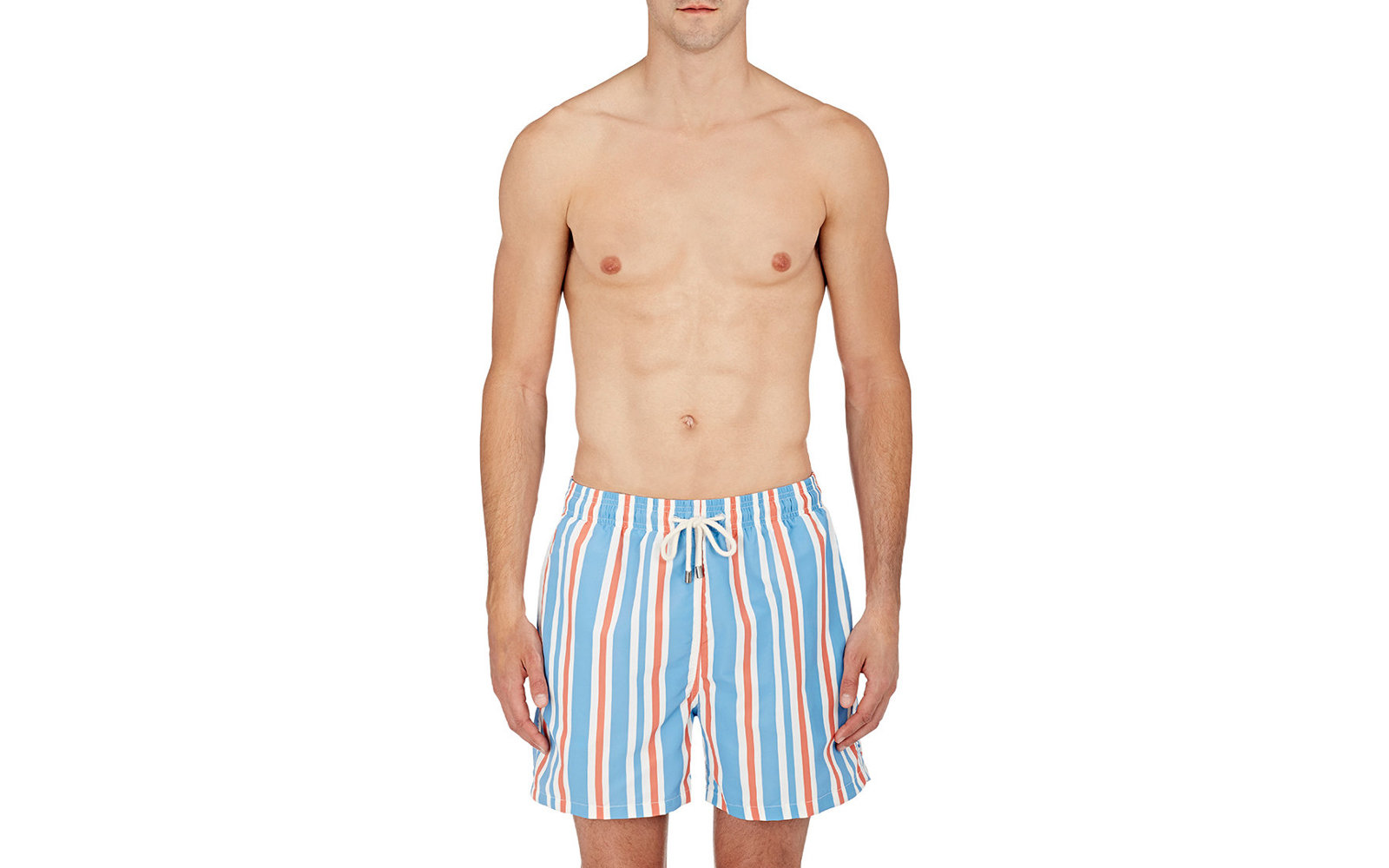 "Solid and Striped ""The Classic"" Swim Trunks"