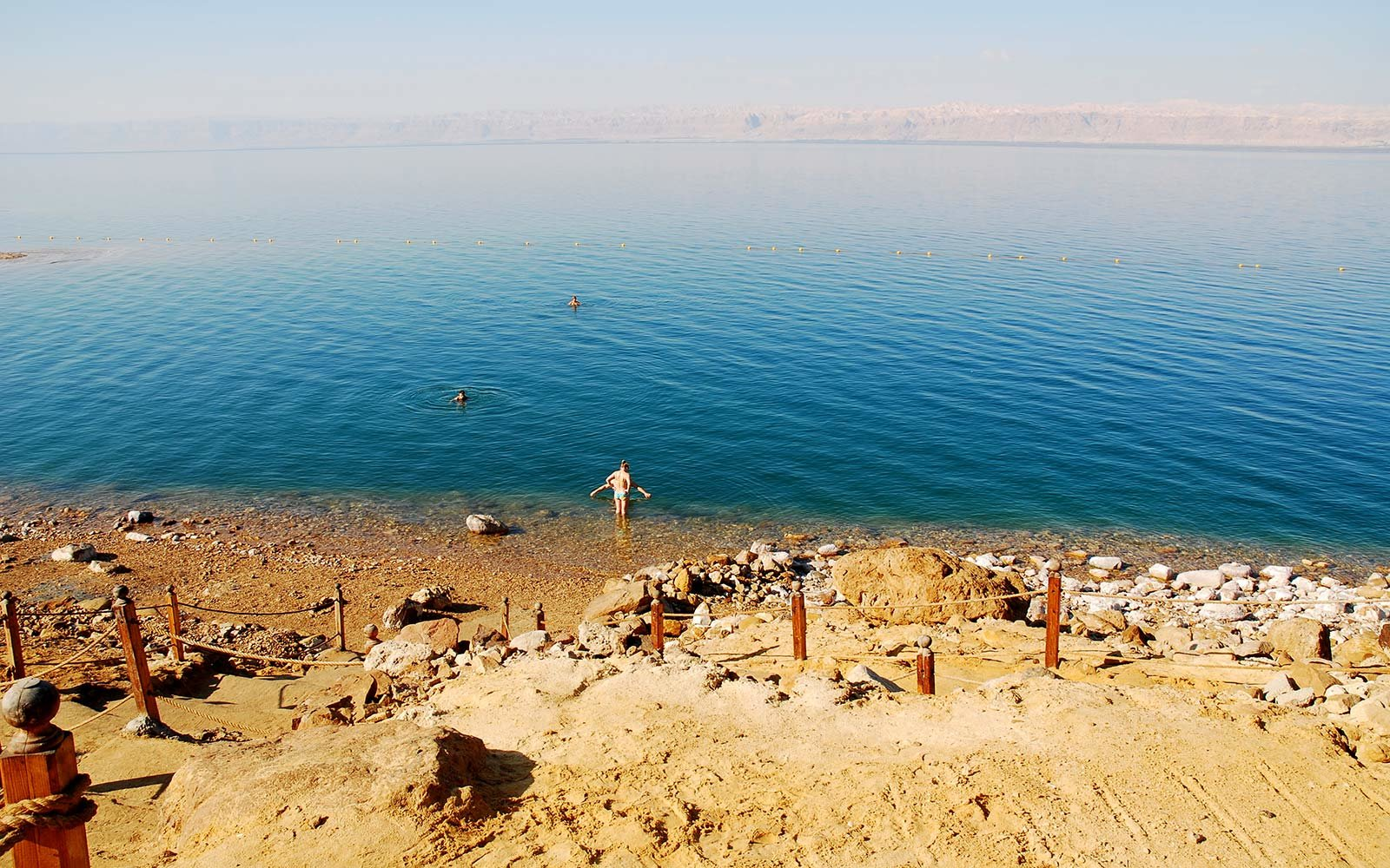 First-Ever Dead Sea Swim