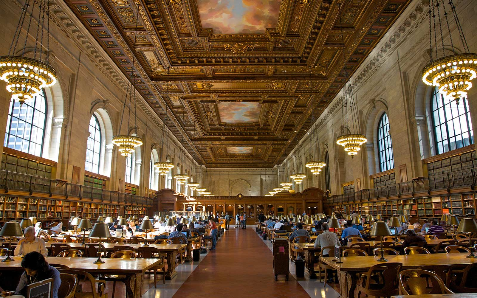 Interior, New York Public Library, New York, New York