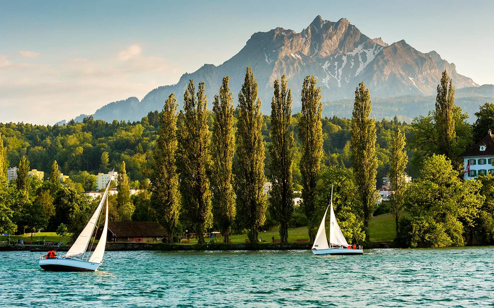 Yachts, Lake Lucerne, Switzerland
