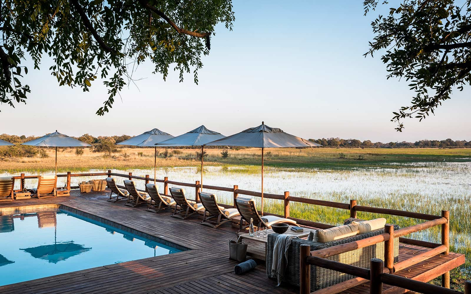 Sanctuary Chief's Camp, Okavango Delta. Botswana, Africa