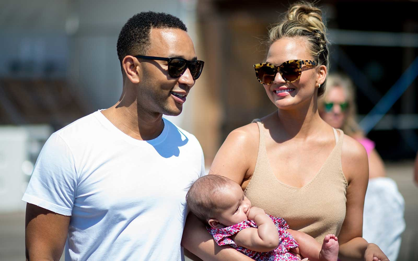Chrissy Teigen Gives New Mom Tips