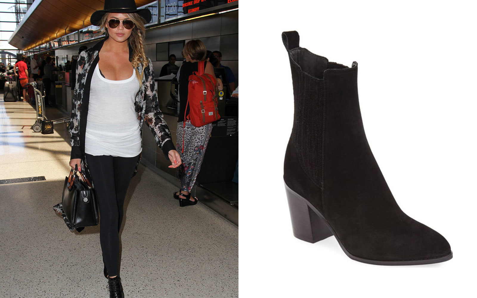 Chrissy Teigen Travel Outfit