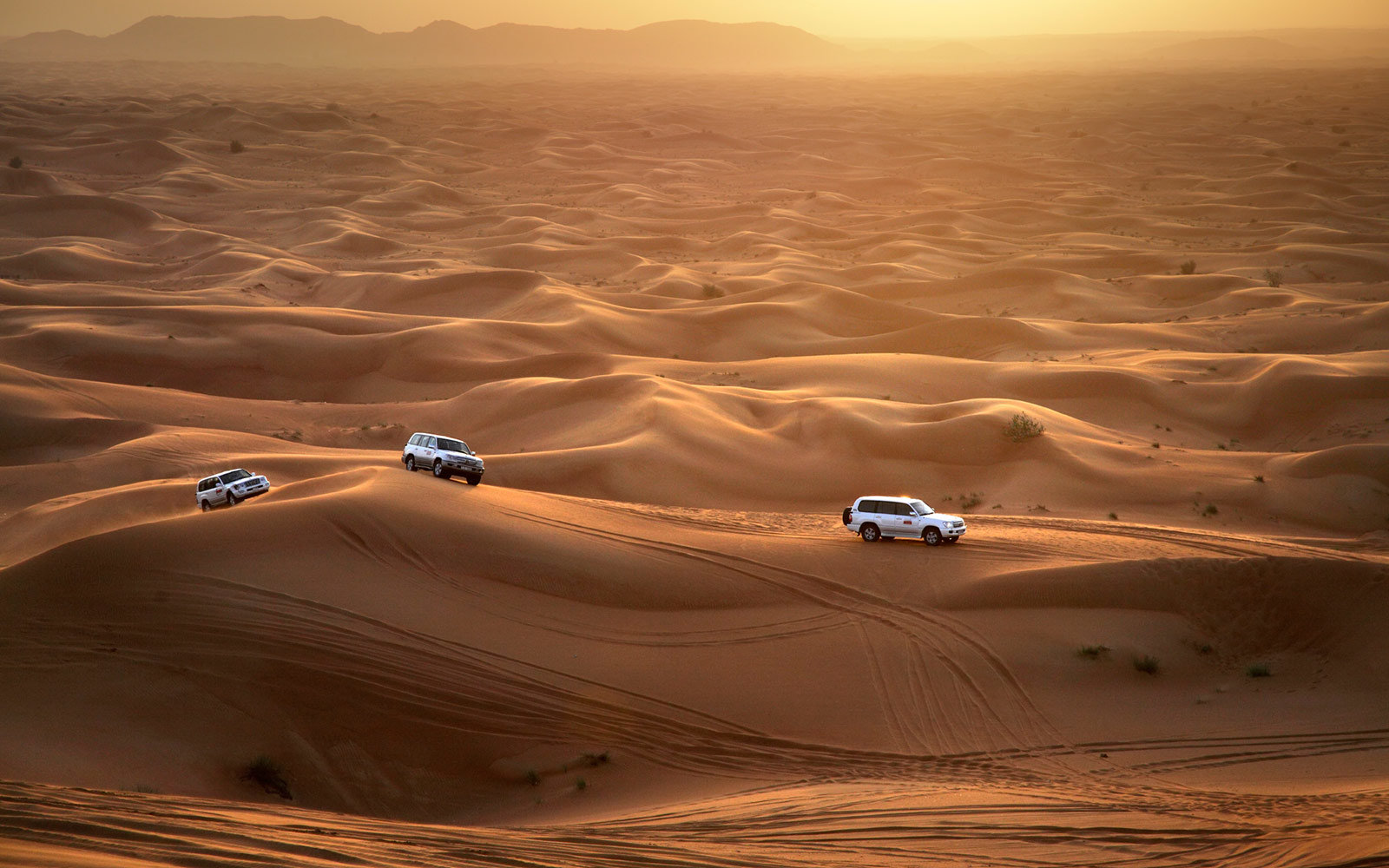 Jeeps, Dubai desert, United Arab Emirates