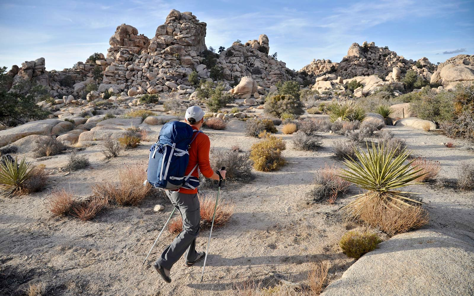 Hiker, Joshua Tree National Park, Southern California