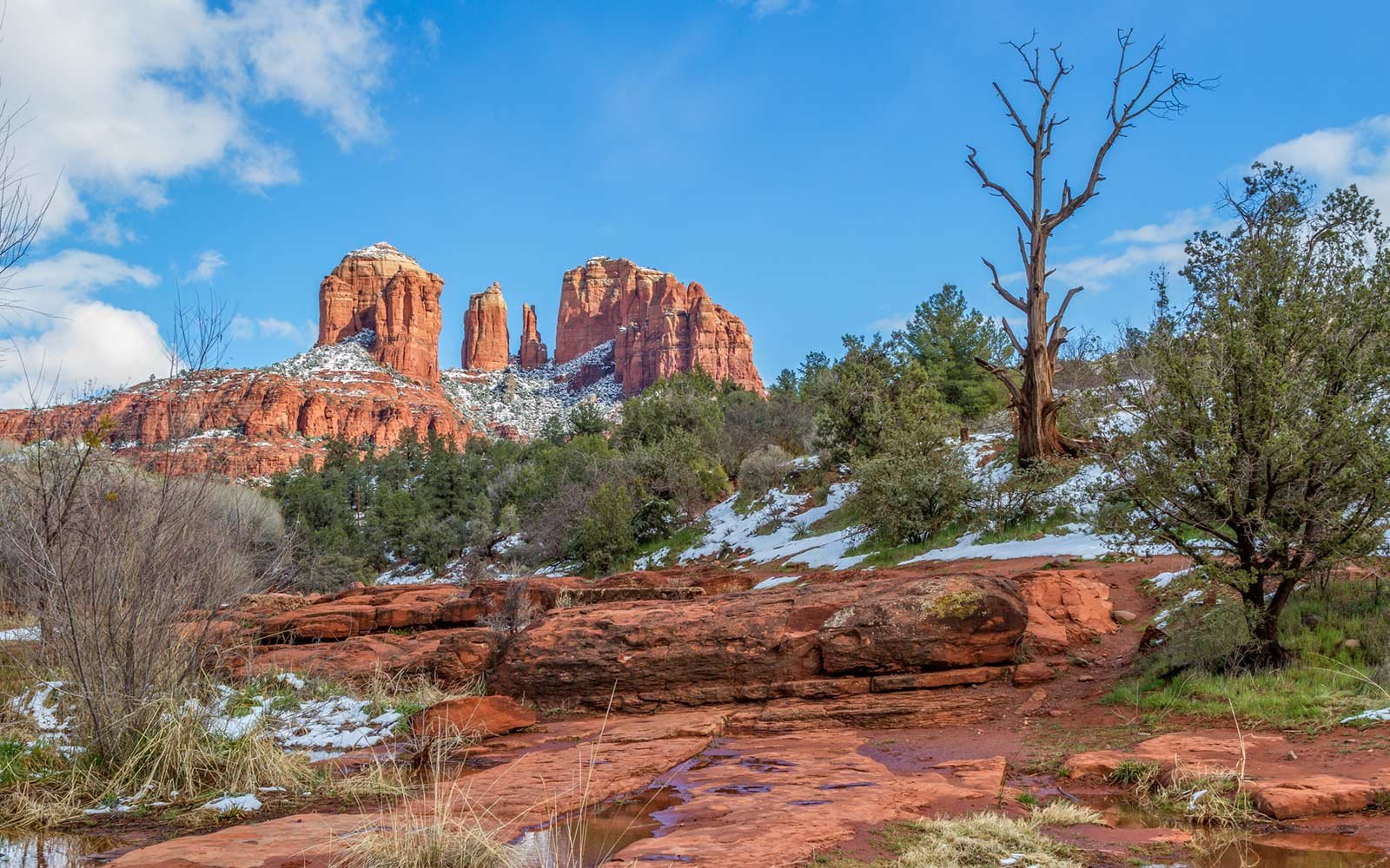 Snow, Cathedral Rock, Sedona, Arizona