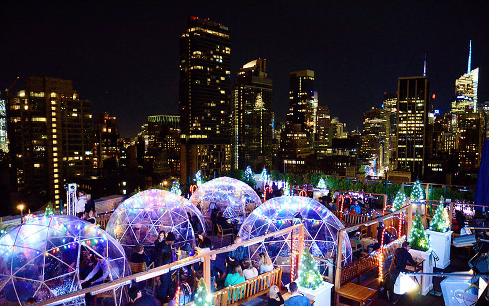 Grab A Drink At This Rooftop Igloo Bar In New York City