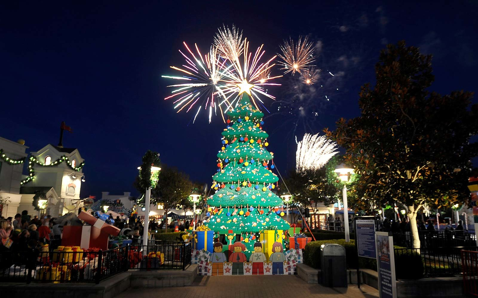 The Legoland Christmas Tree in Carlsbad,  California