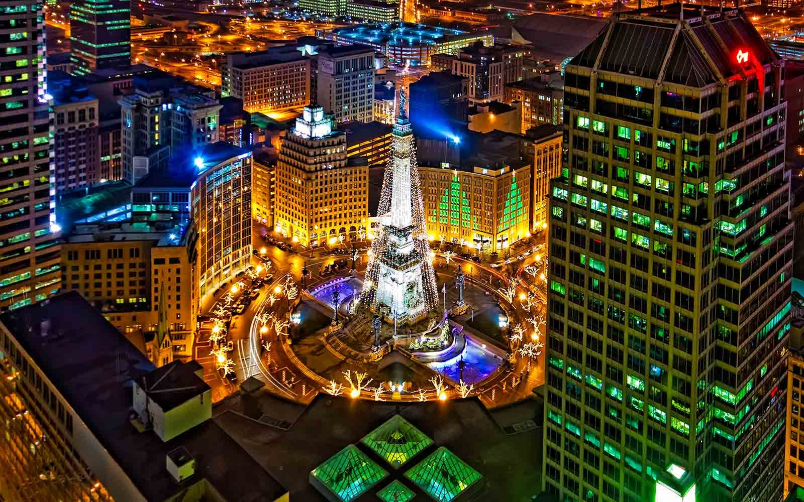 The best christmas trees in the united states travel for Tree lighting indianapolis