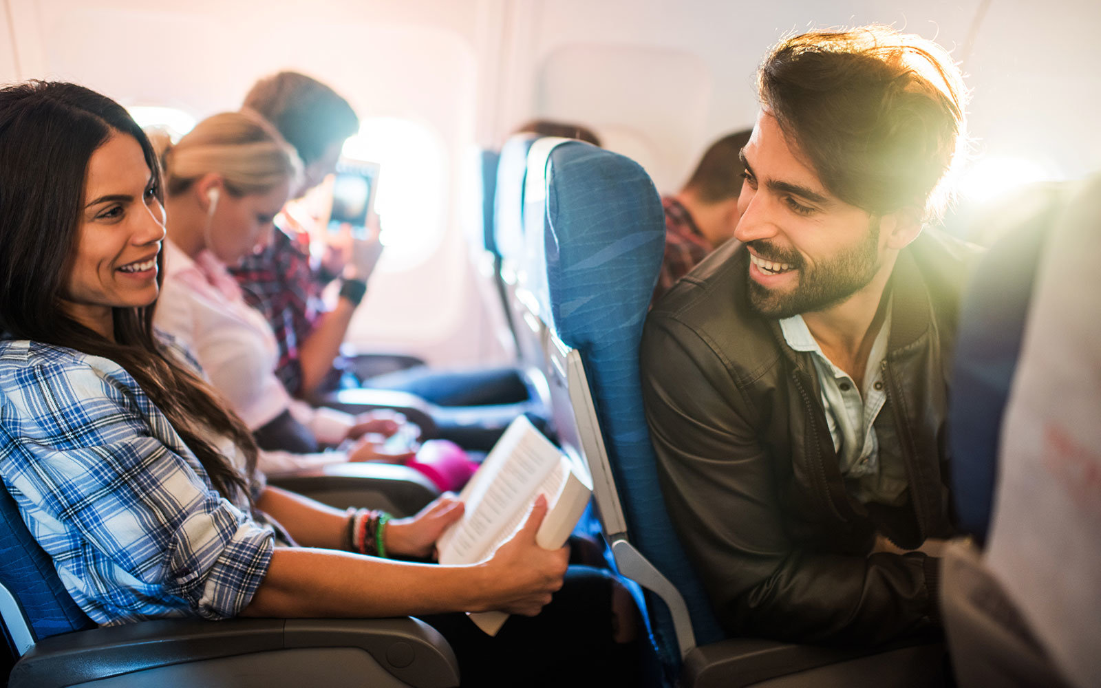 In-flight dating app