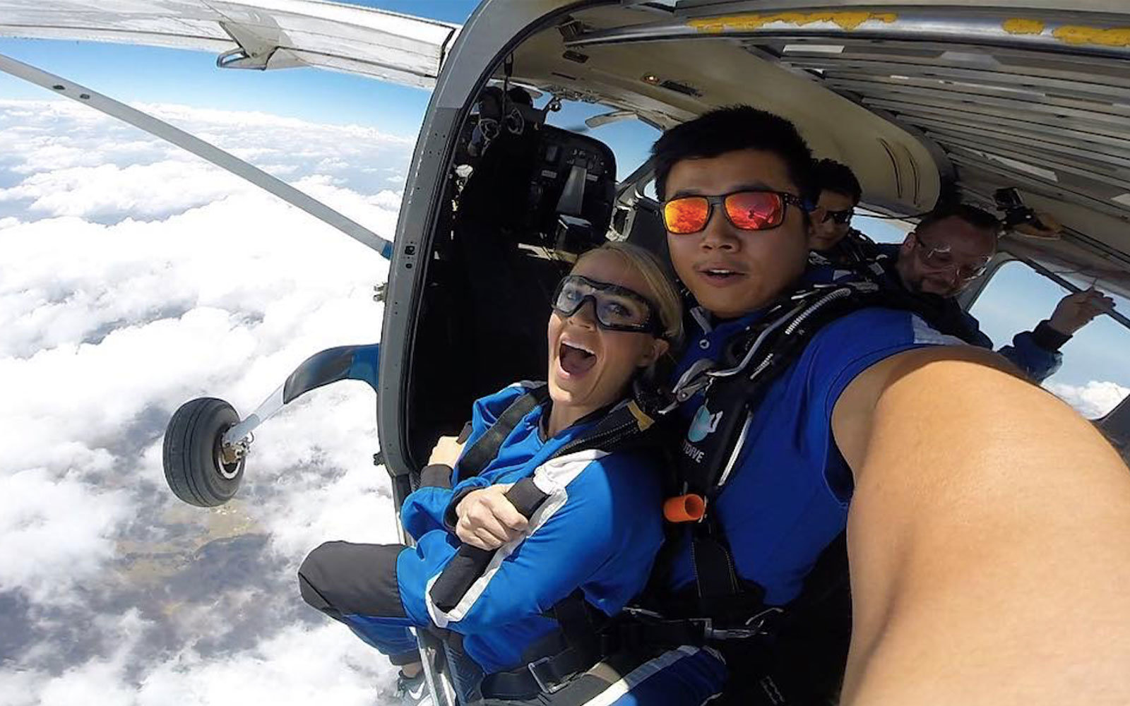 Carrie Underwood went skydiving on tour.