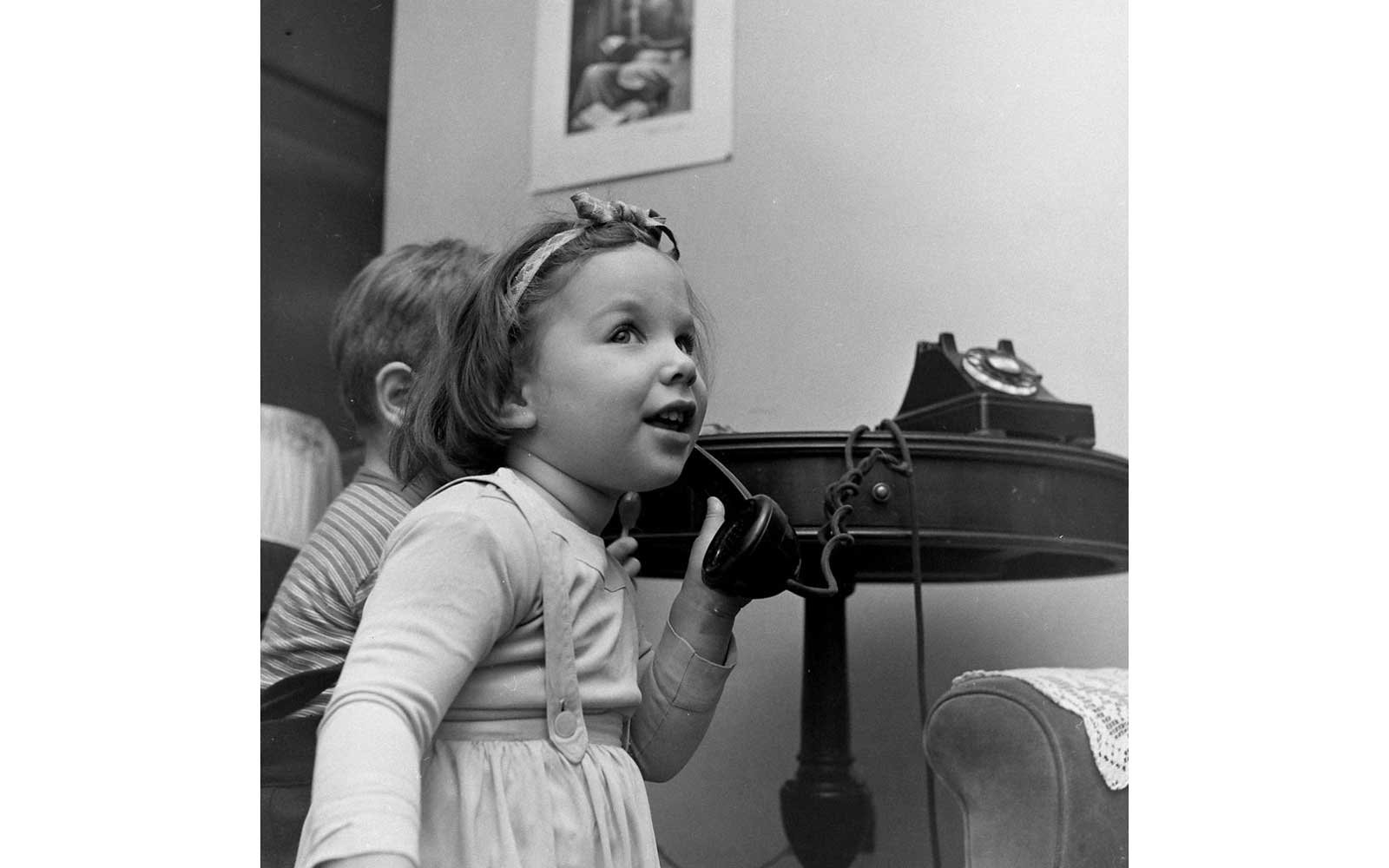 Children On The Phone With Santa