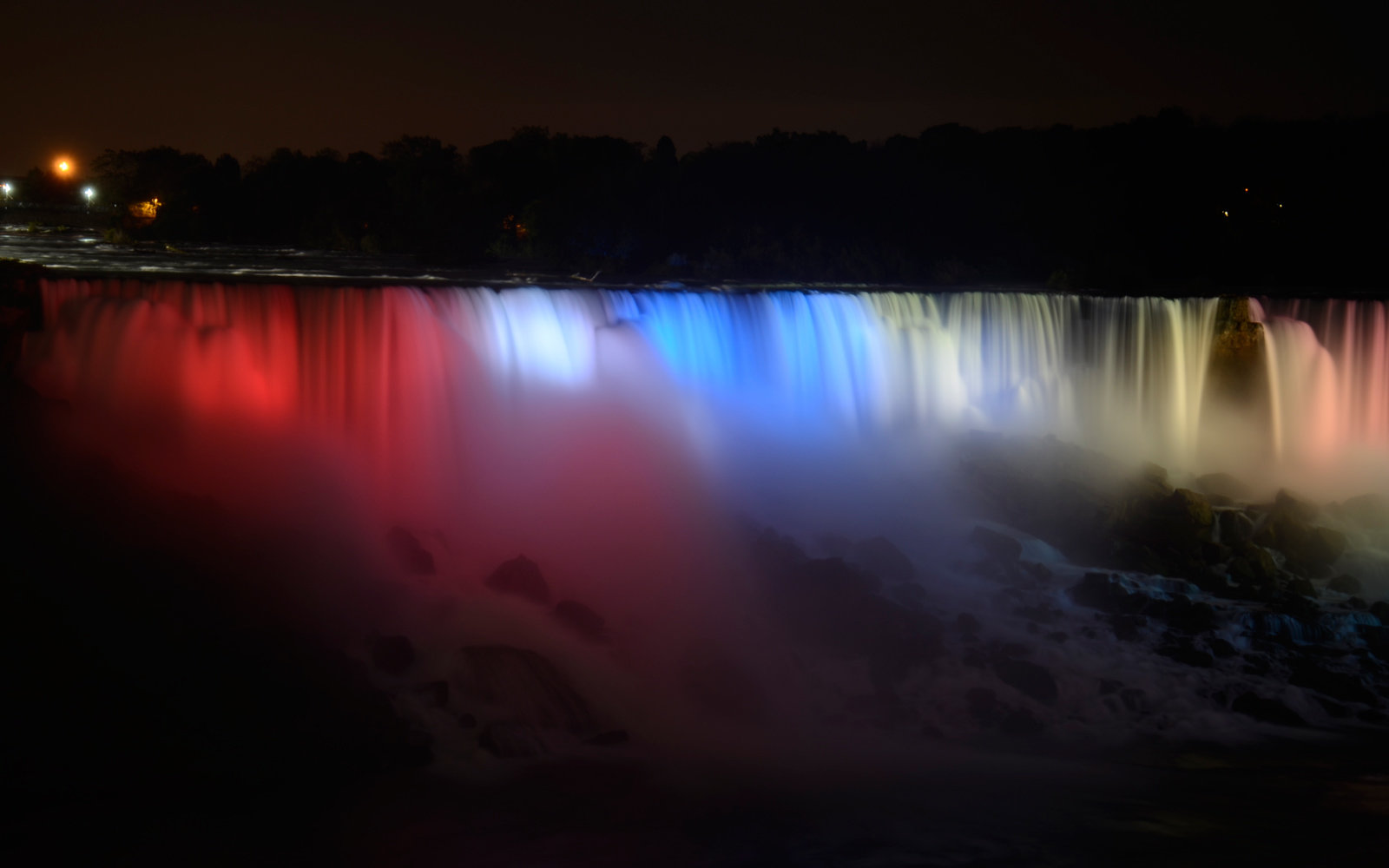 Niagara Falls, Neon Lights, Colorful