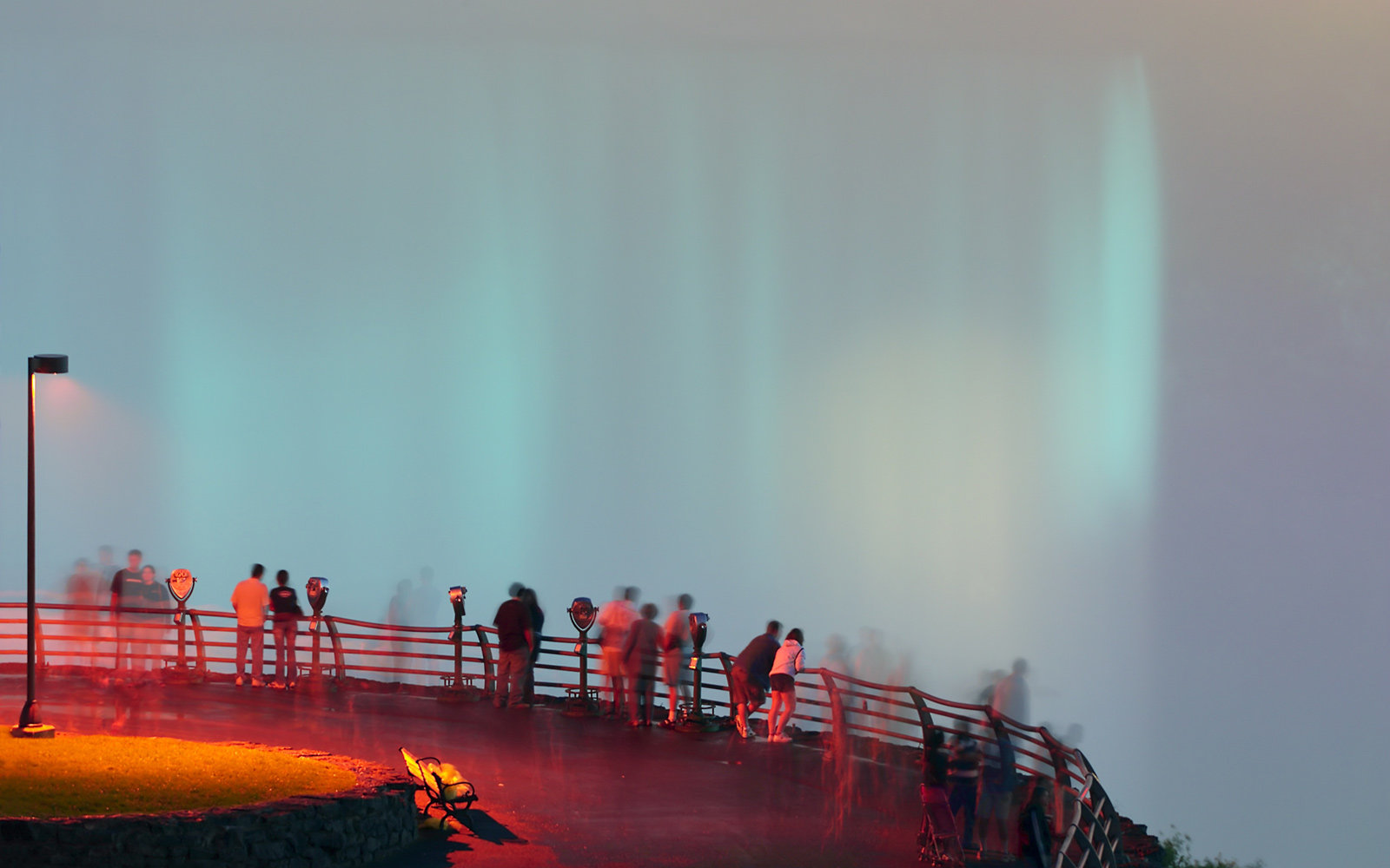 Niagara Falls, People, Neon Lights