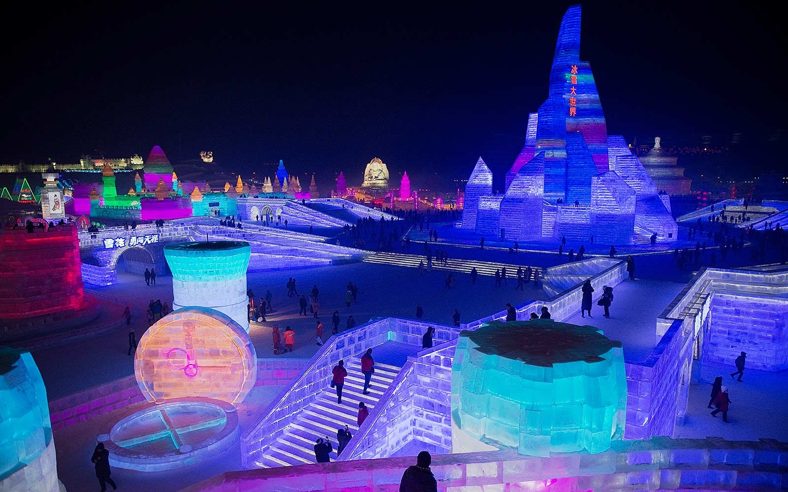 This Ice Festival In China Is A Dazzling Multi-colored
