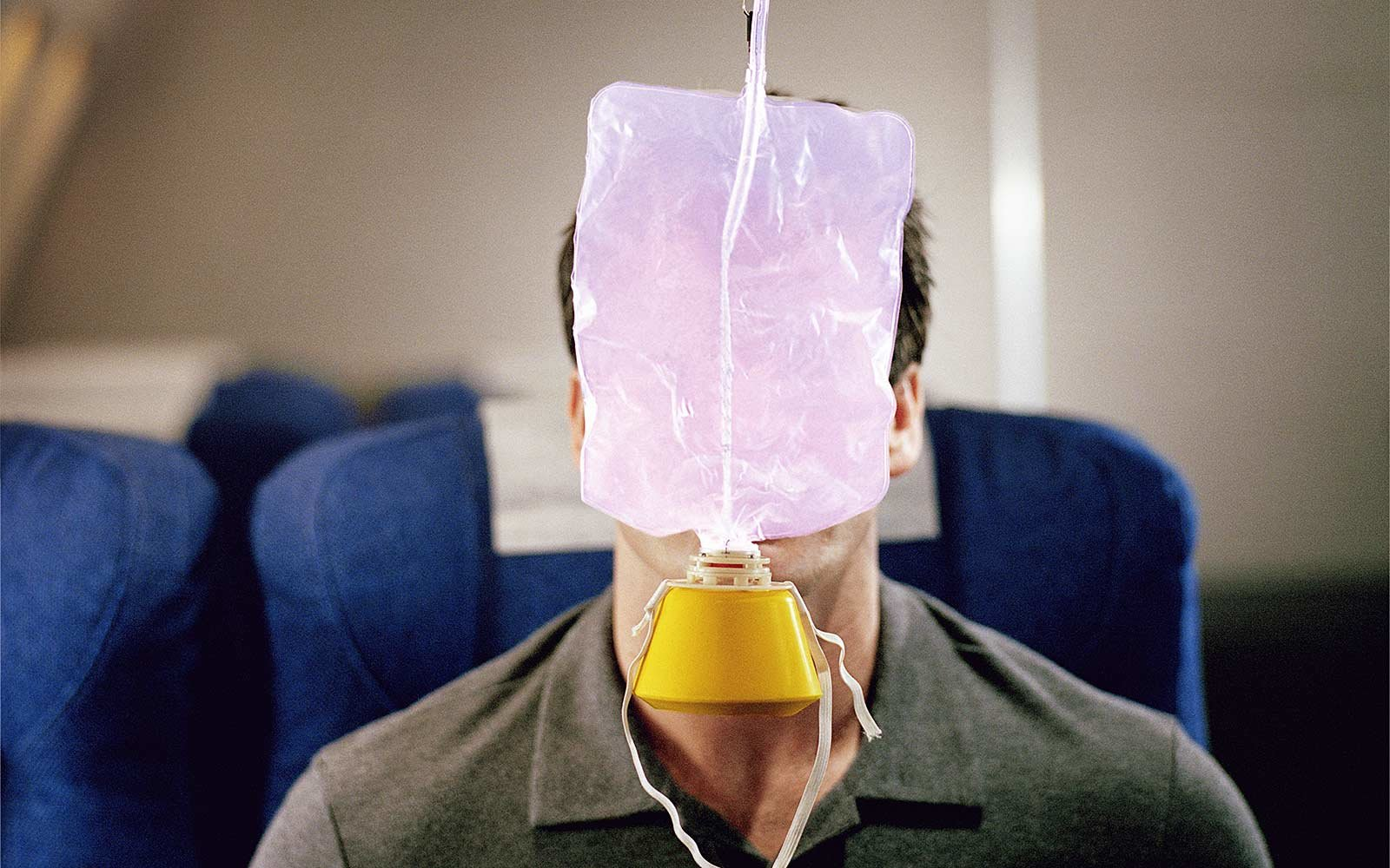 What happens when you put on your oxygen mask