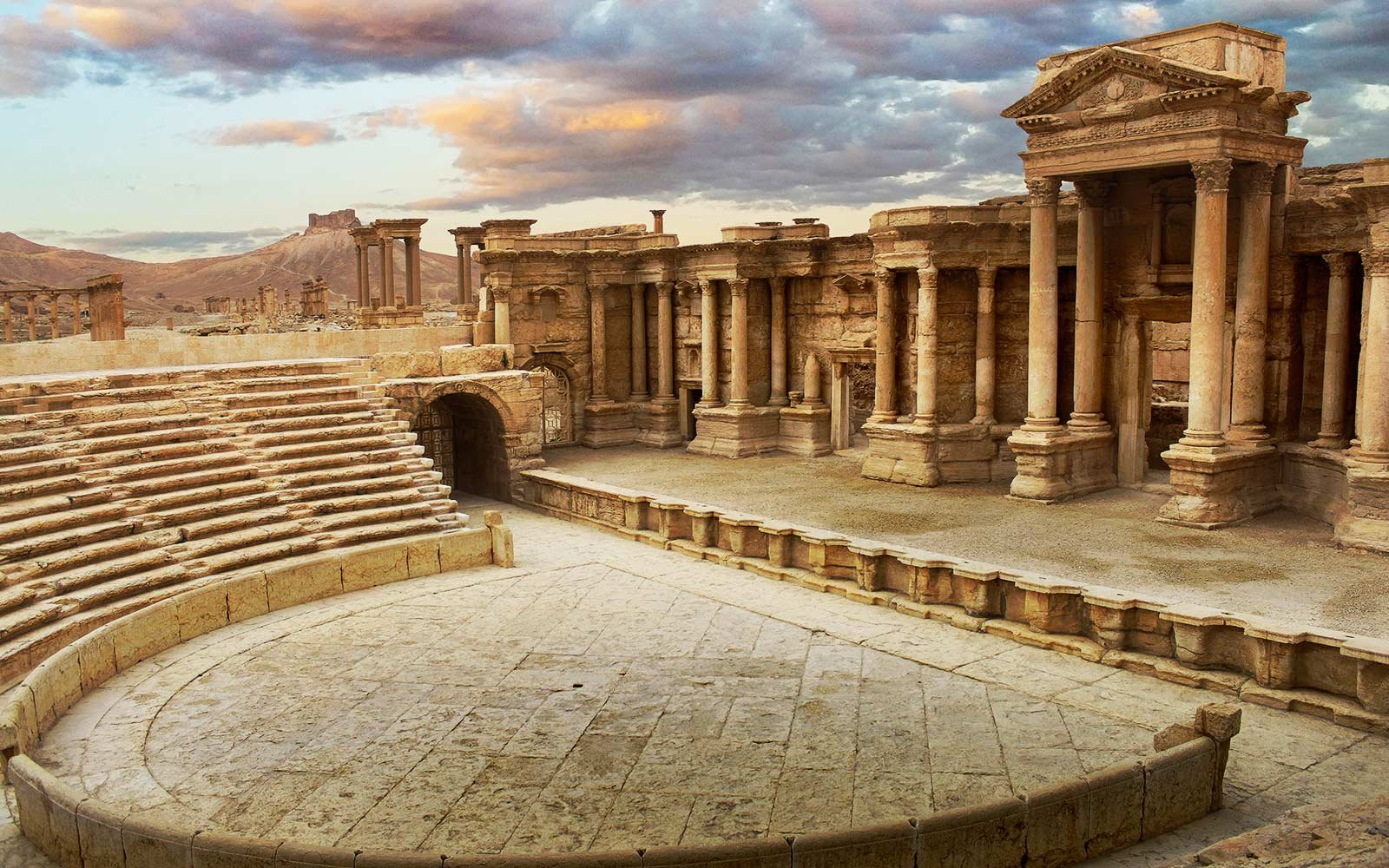 Palmyra Theater Destruction in Syria